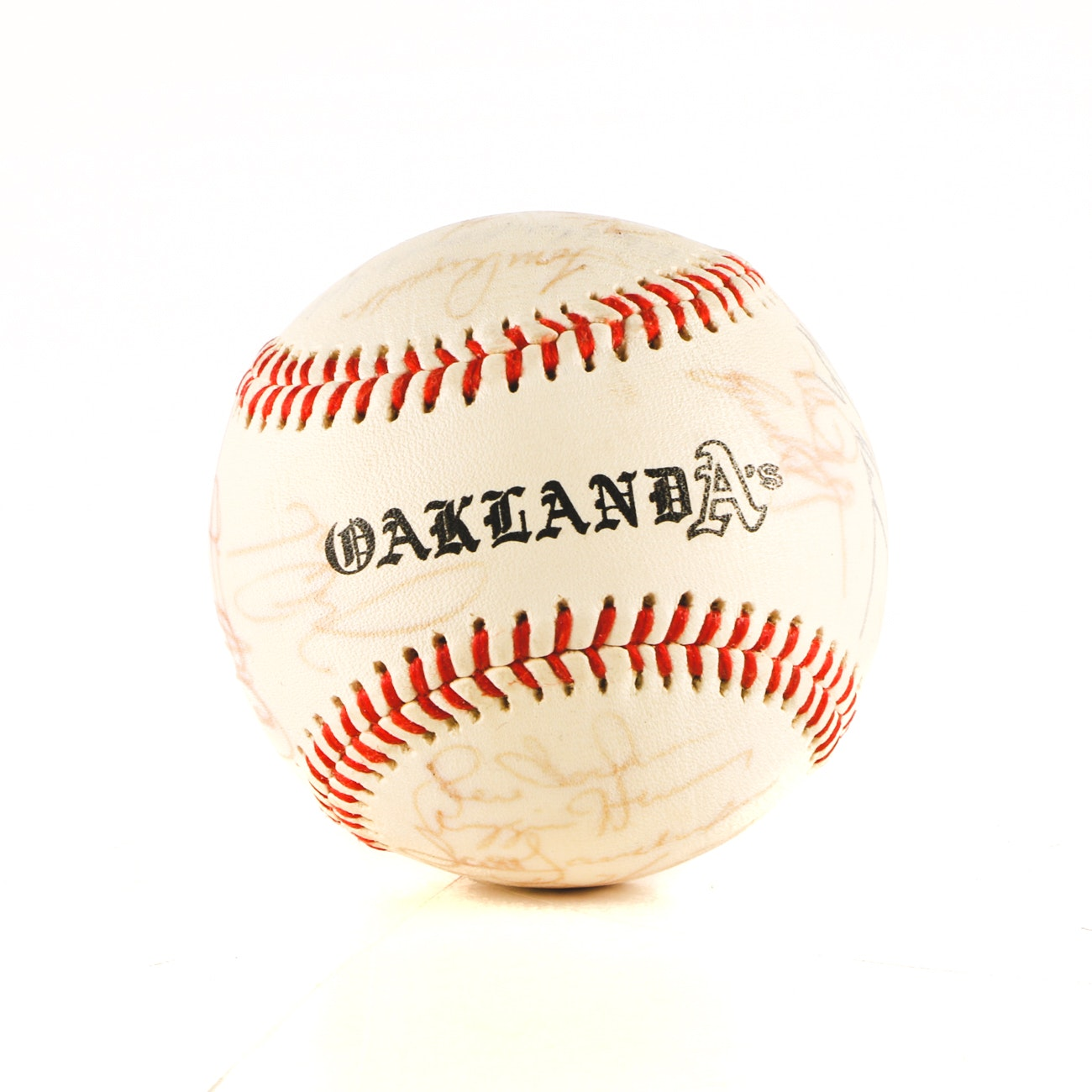 1990 Oakland Athletics Team Signed Baseball JSA Full Letter