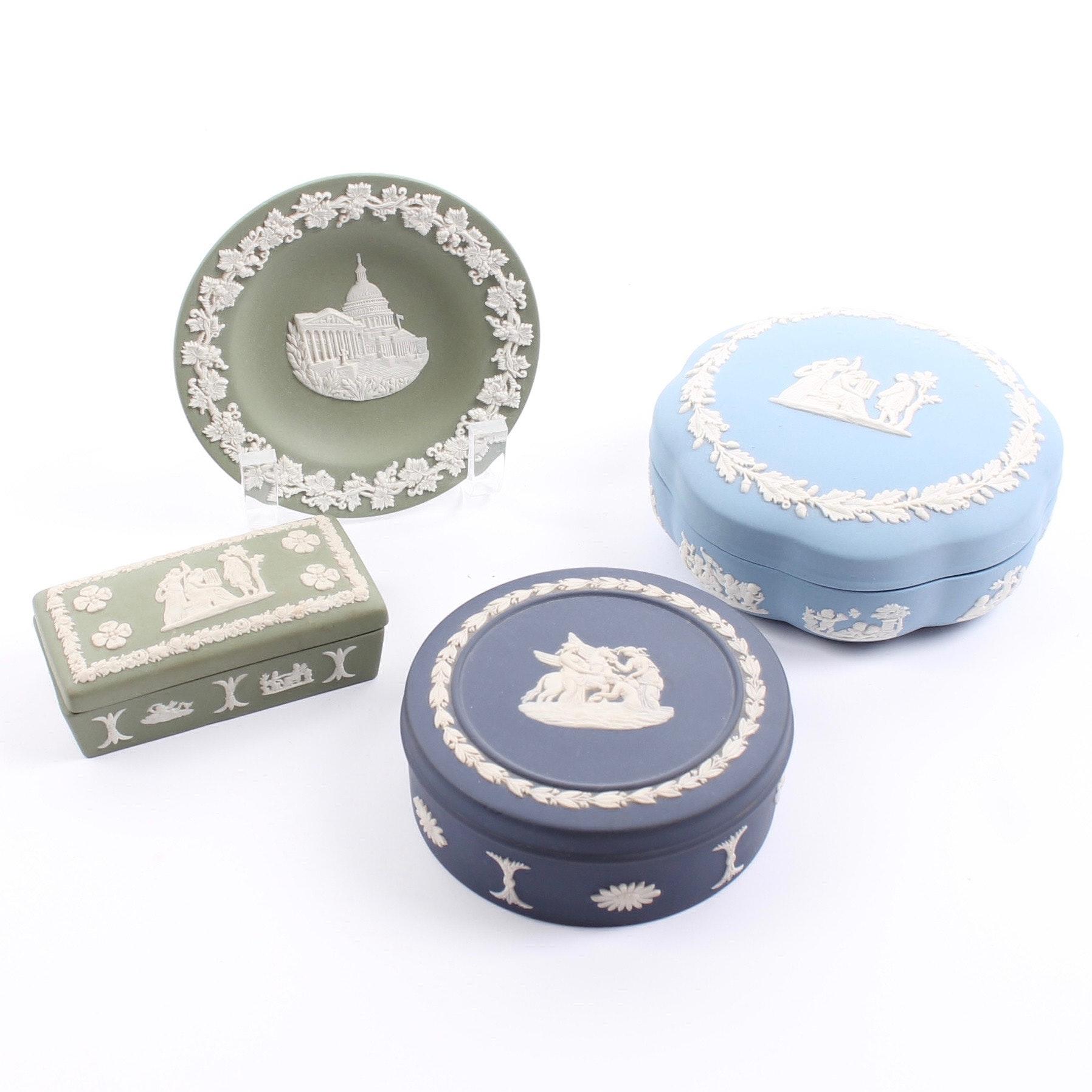 Wedgwood Jasperware Trinket Boxes and Pin Dish