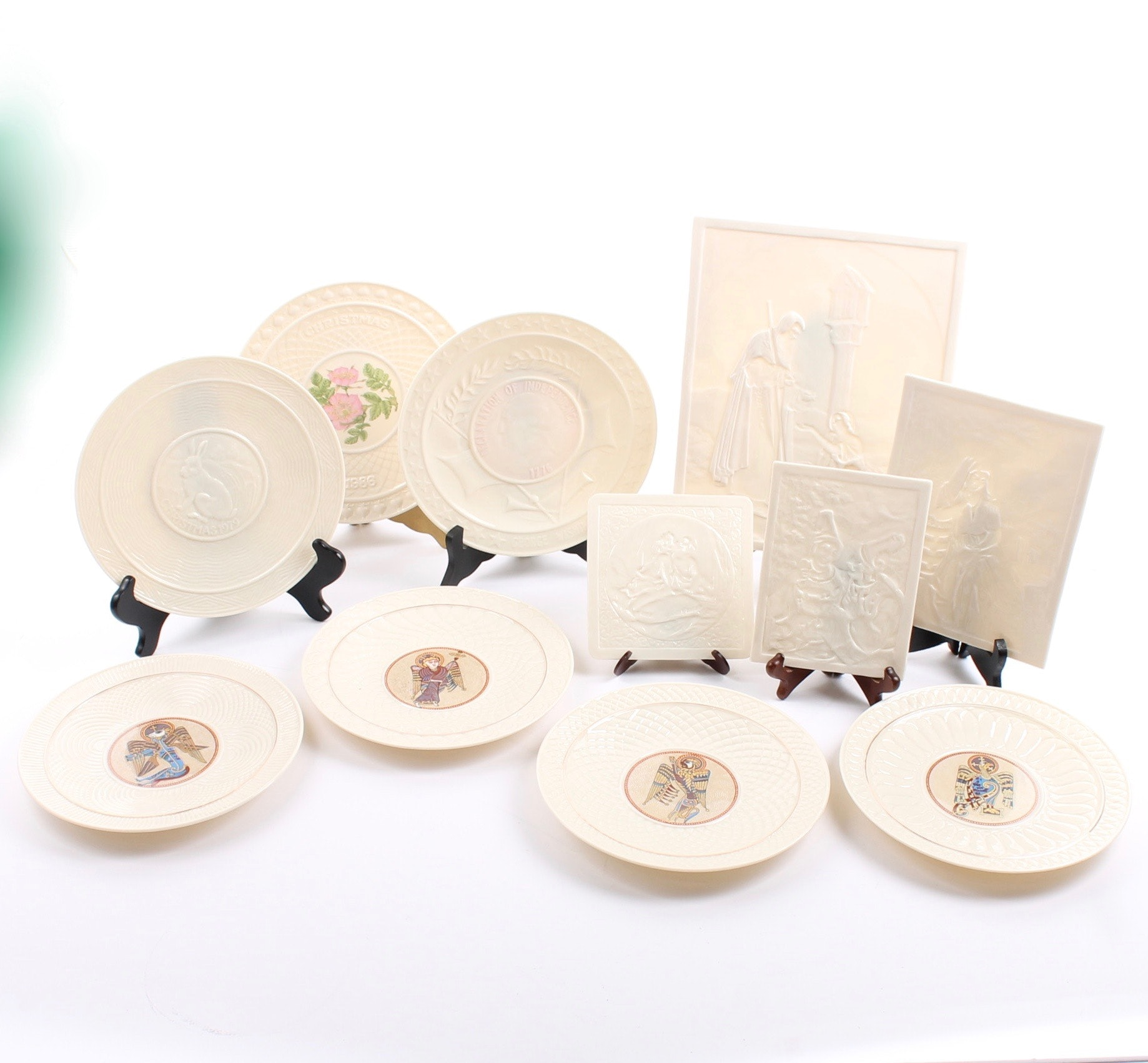 Belleek Porcelain Collector Plates and Lithoplanes