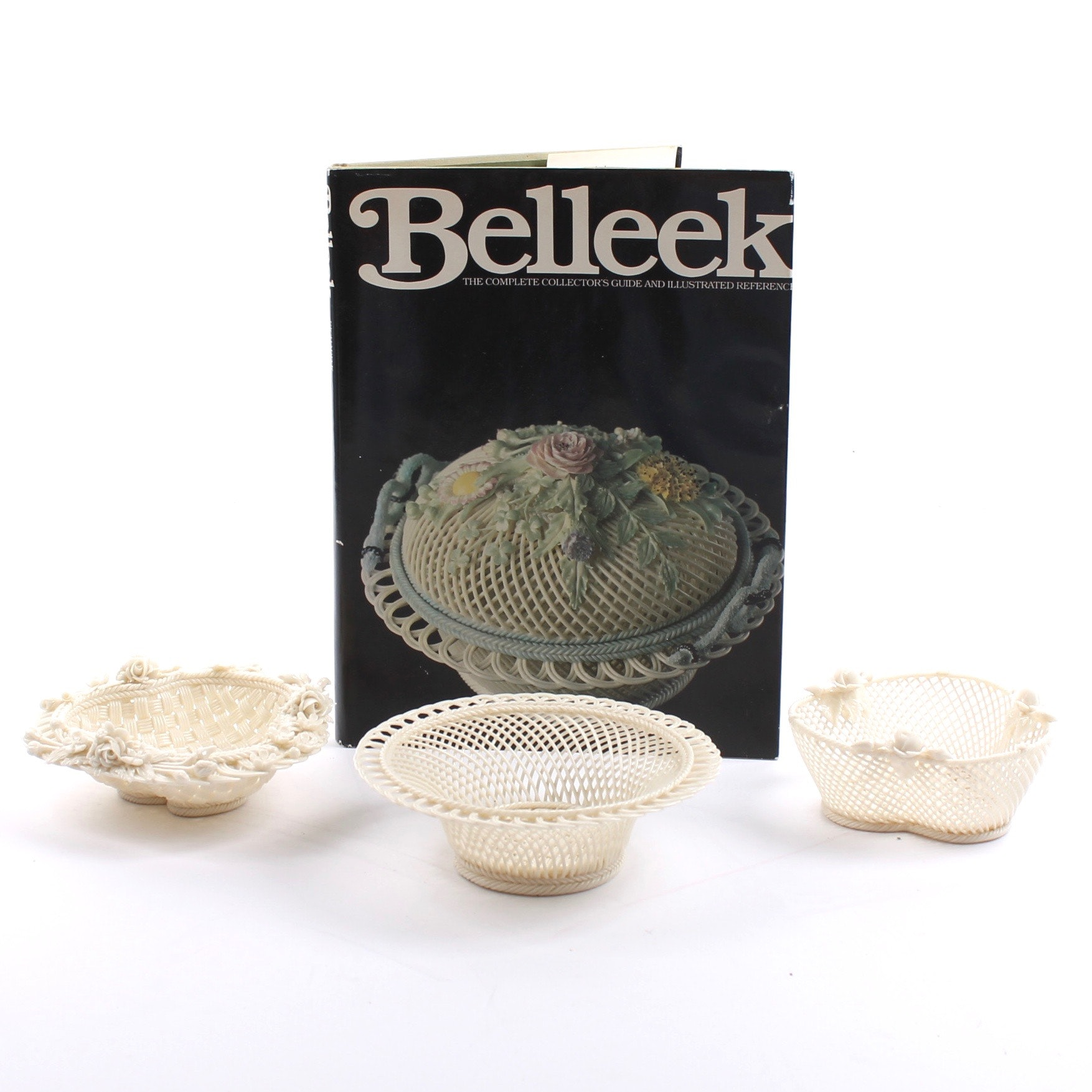 Belleek Porcelain Basketware and Collector Book