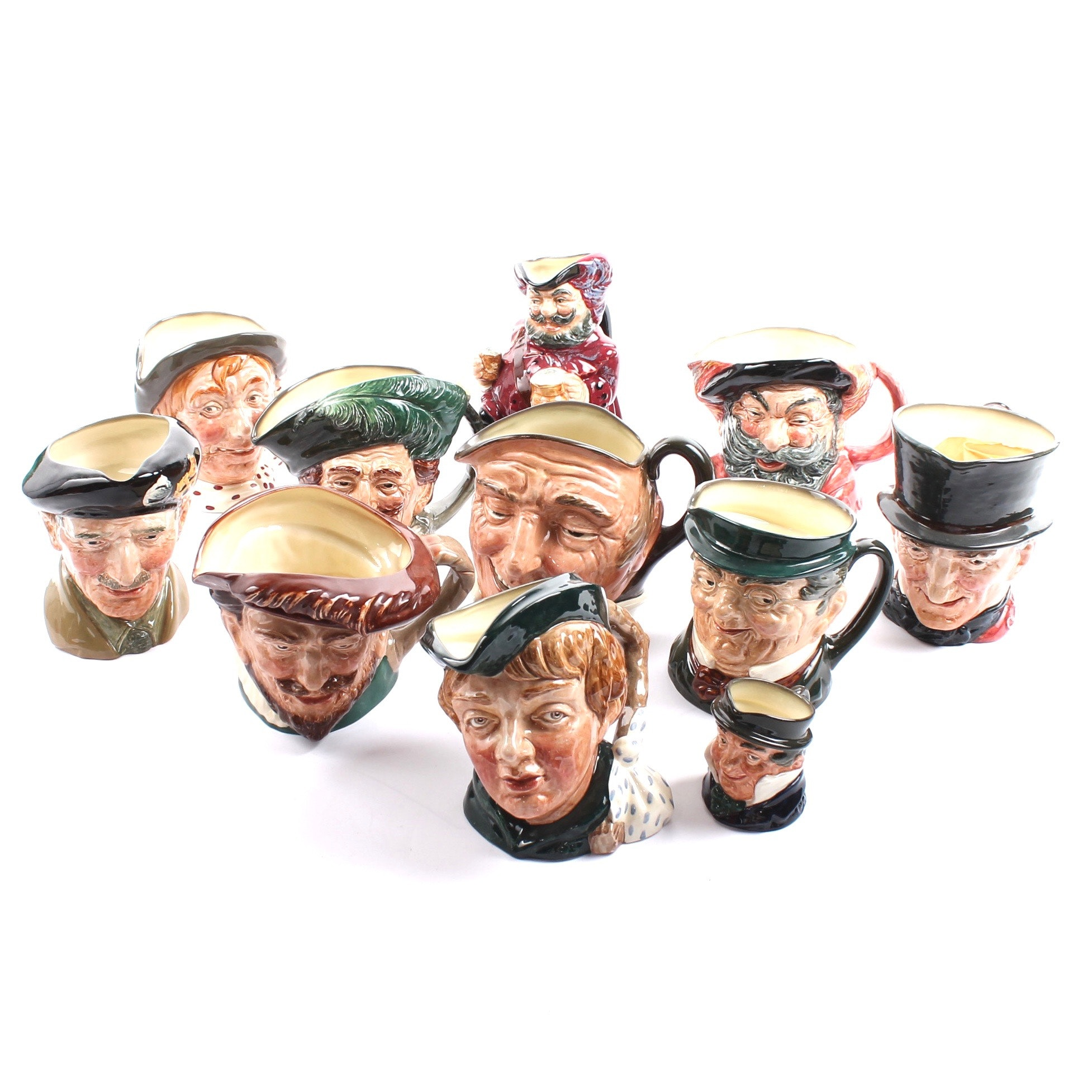 """Royal Doulton Character and Toby Jugs including """"Dick Whittington"""""""