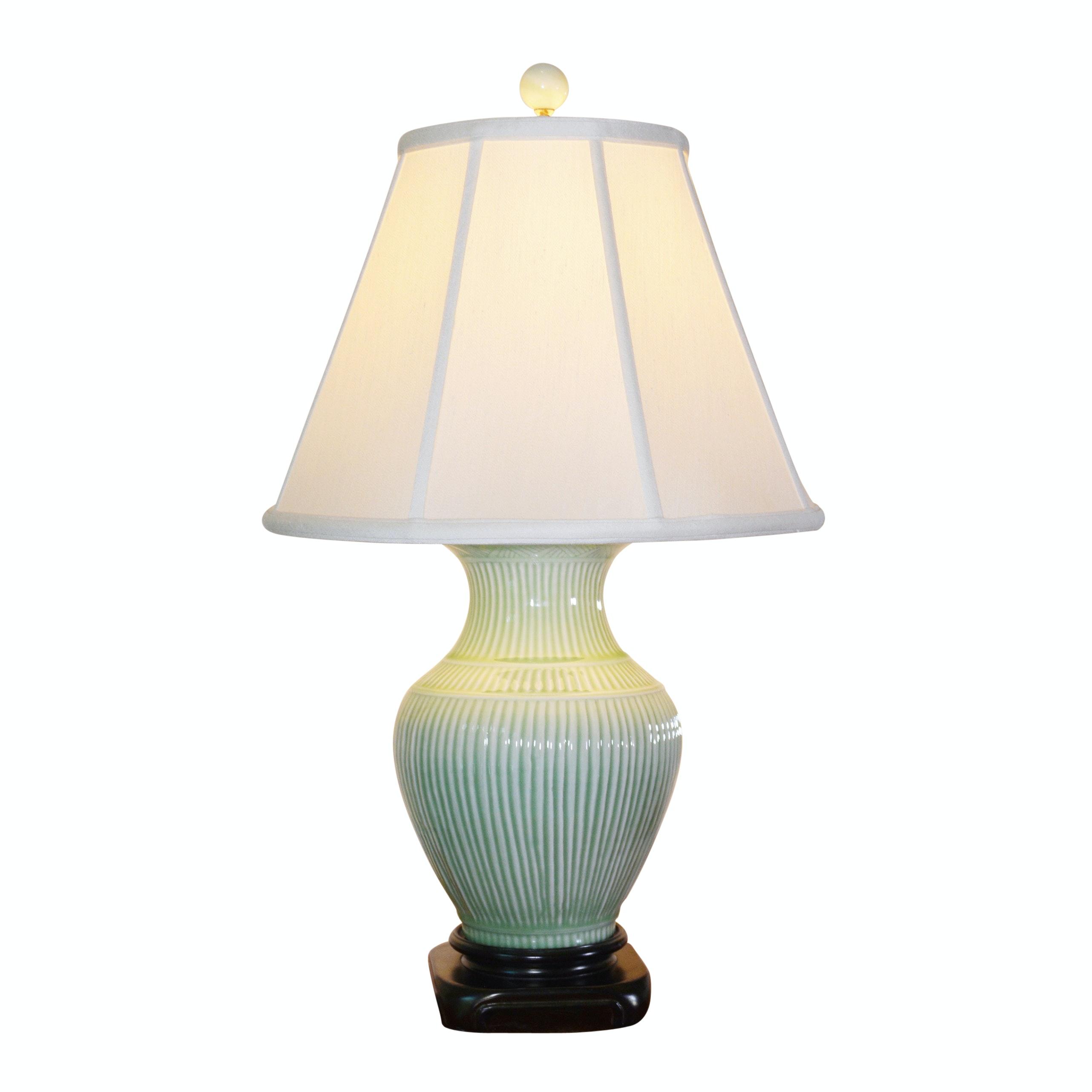 Spring Green Ceramic Jar Table Lamp