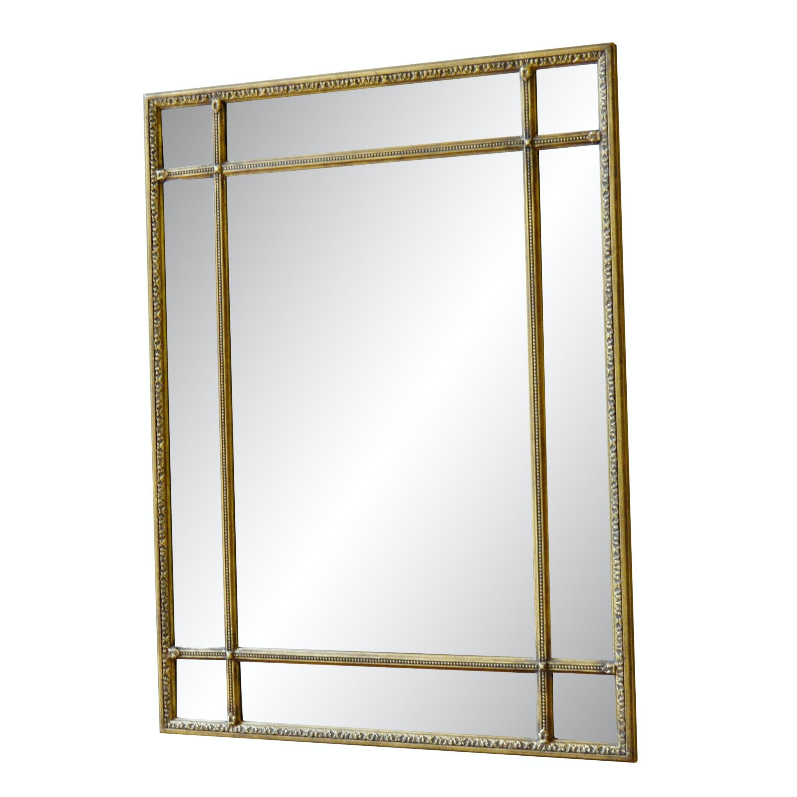 Beveled Glass Panel Wall Mirror