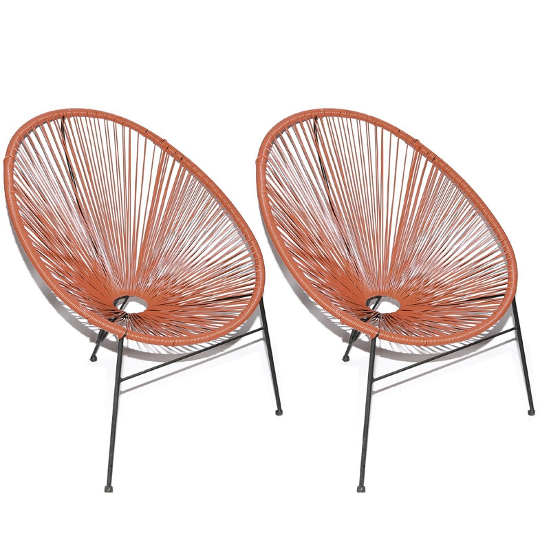Pair of Acapulco Style String Chairs