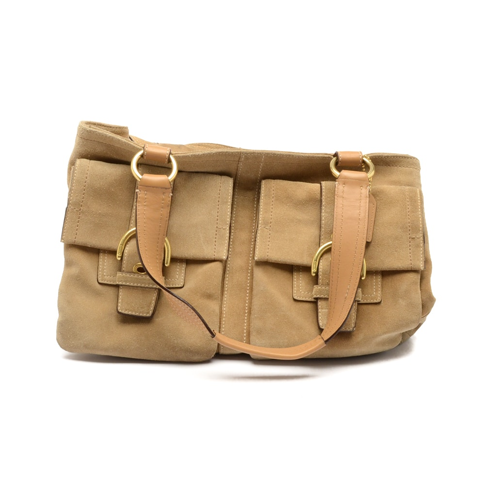 Coach Suede and Leather Satchel