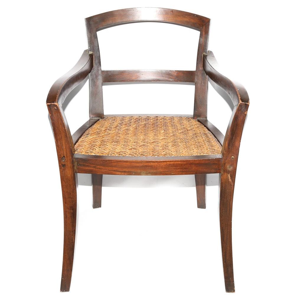 Asian Inspired Modern Armchair