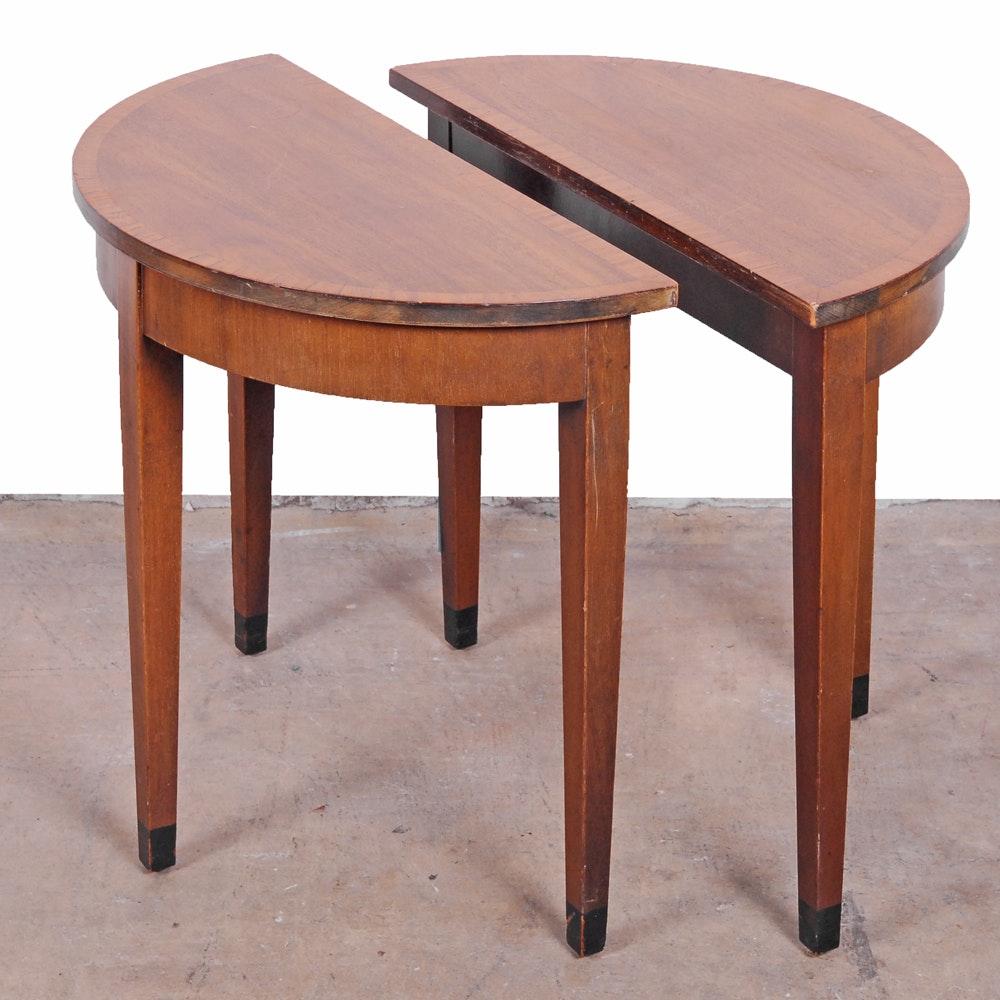 Half Circle Side Table Pair