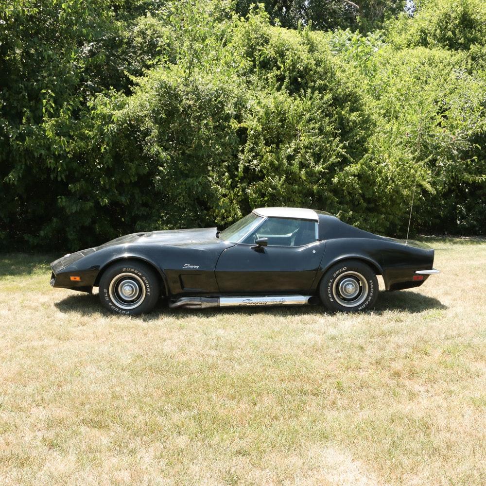 1973 Black Chevrolet Corvette Stingray
