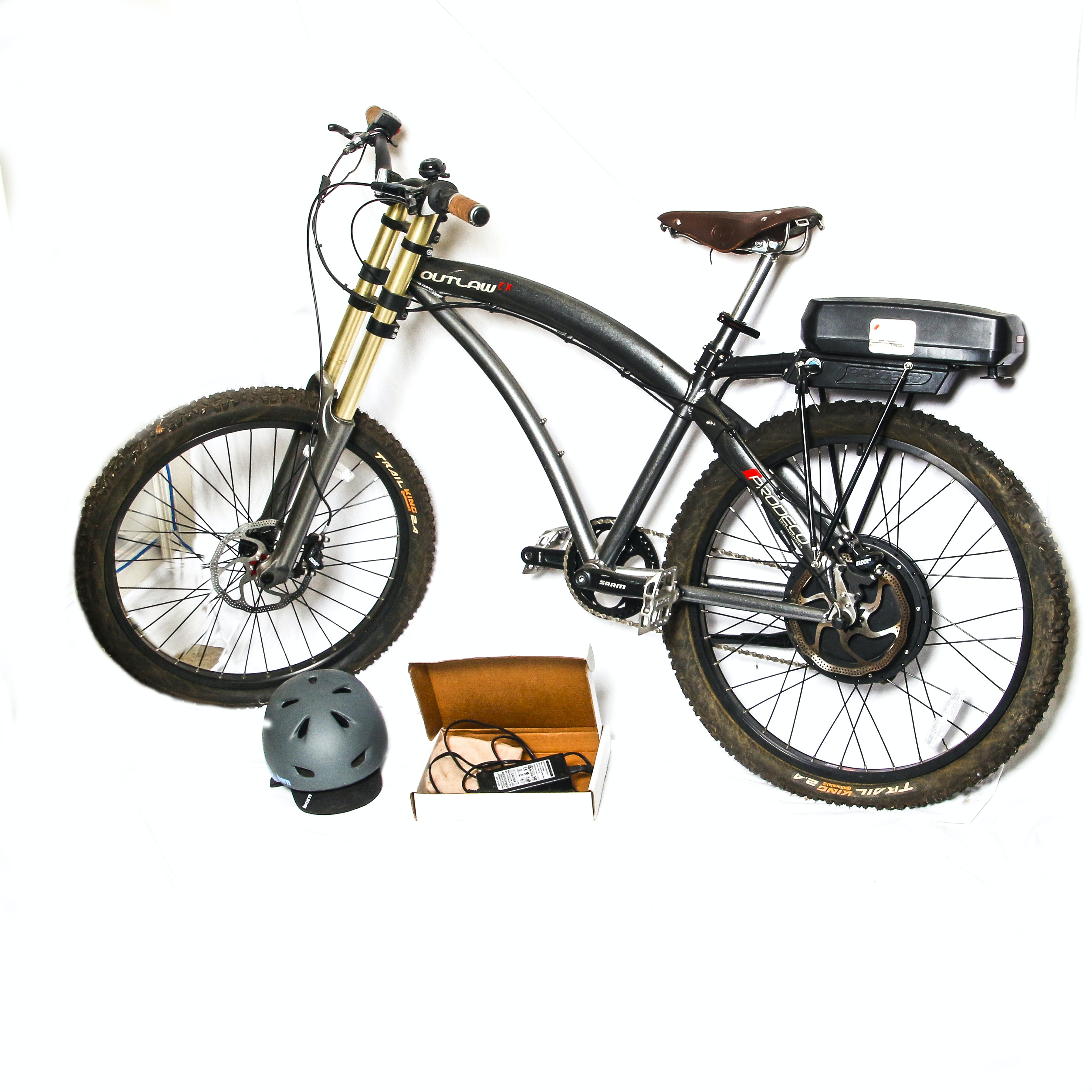 ProdecoTech Outlaw EX 36V Electric Bicycle with Bern Helmet