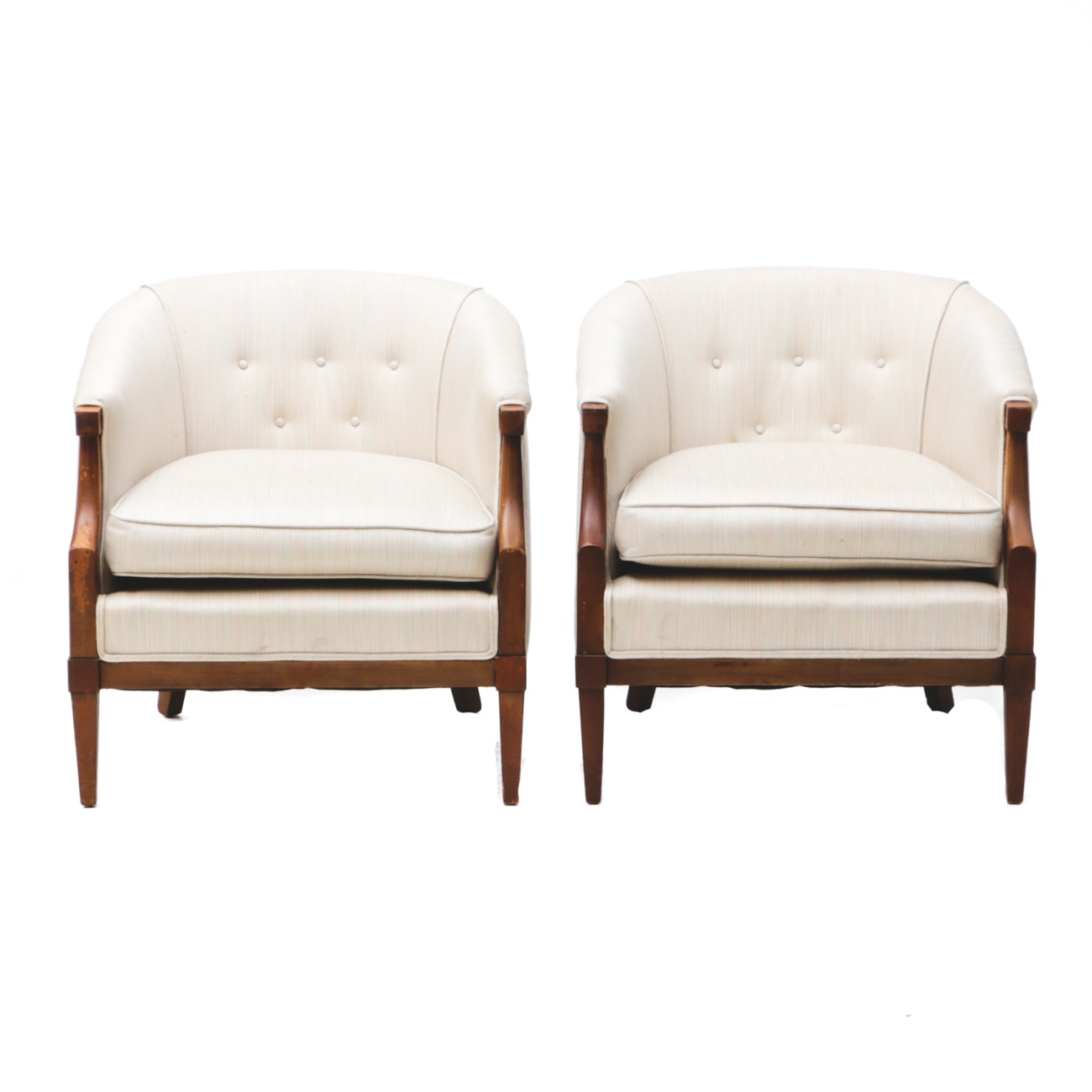 Pair of Mid-Century Tub Chairs