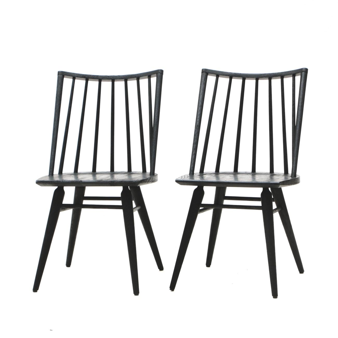 Mid Century Modern Style Oak Windsor Chairs