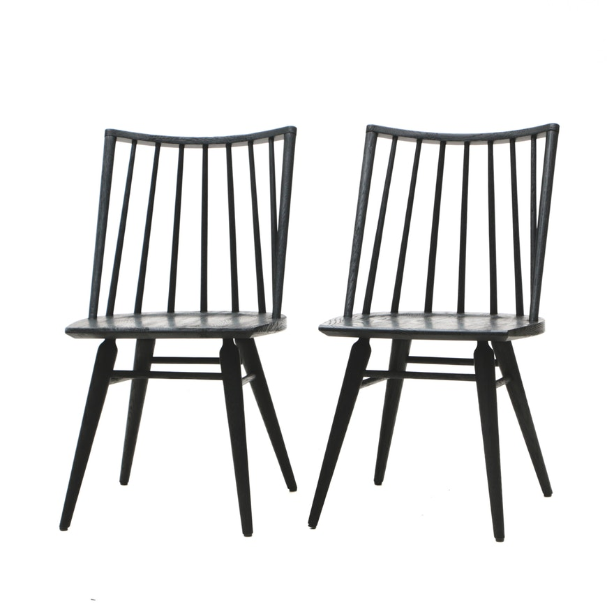 Mid Century Modern Style Oak Windsor Chairs Ebth