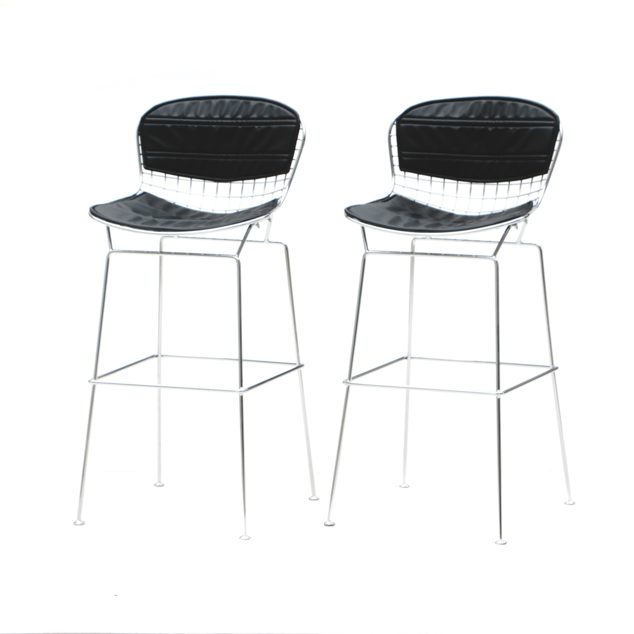 Pair of Contemporary Bertoia Style Counter Stools
