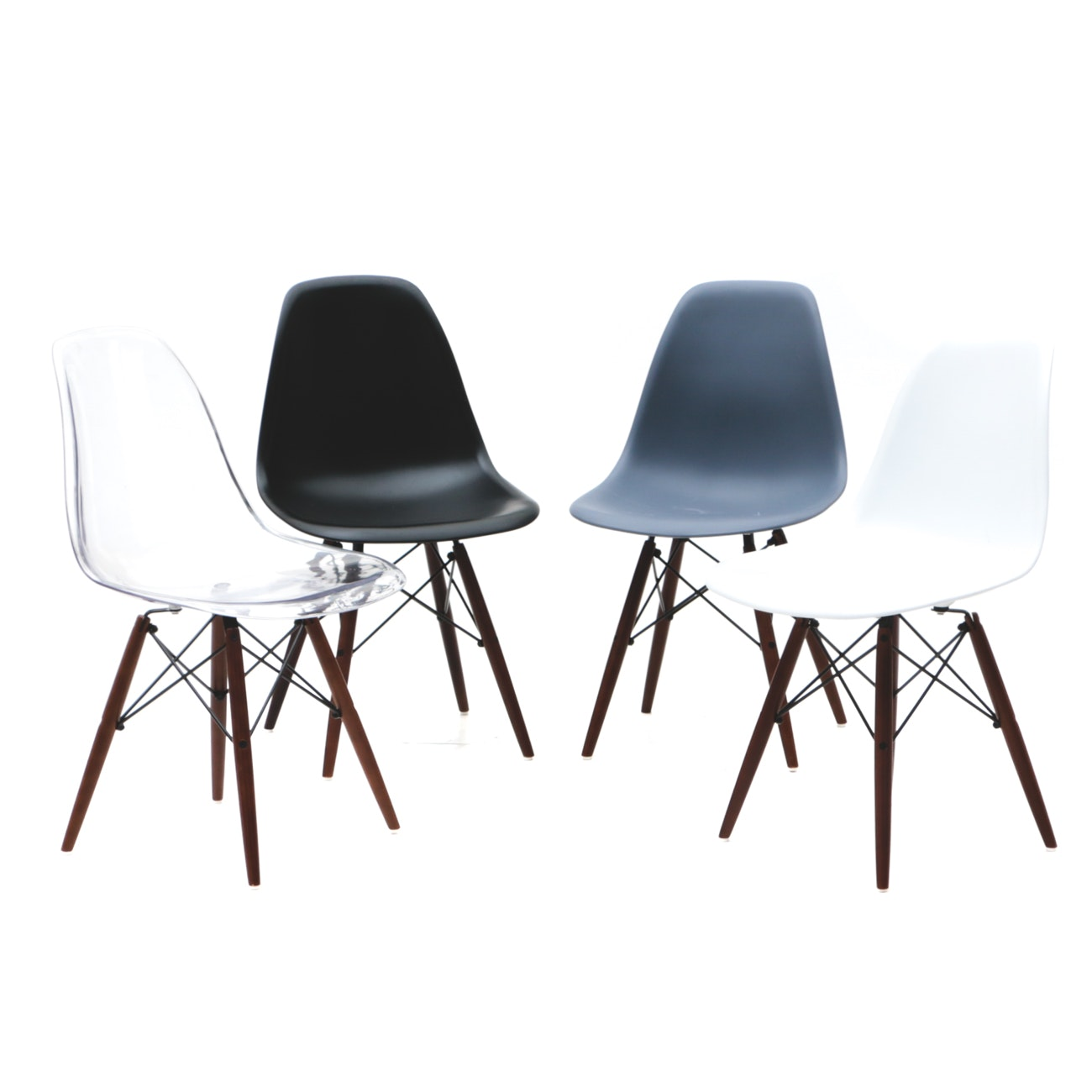 Collection of Eames Style Eiffel Chairs