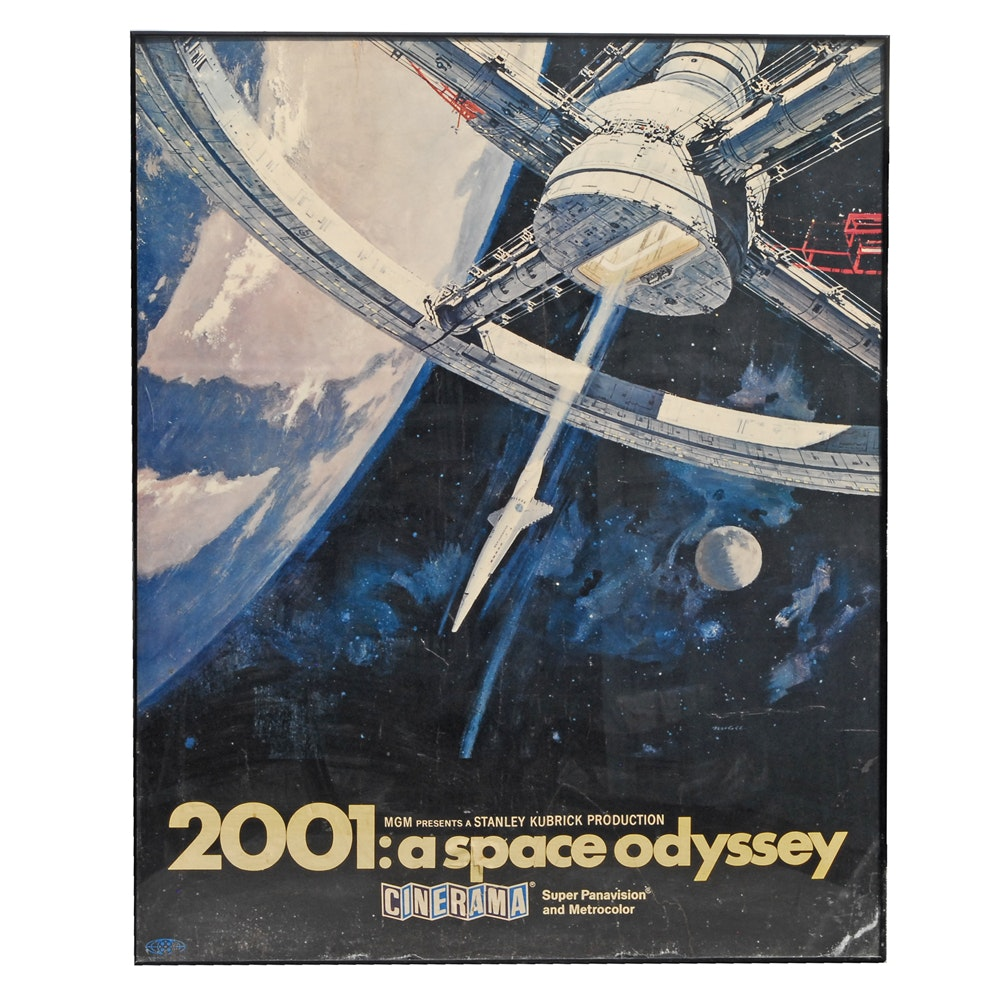 """2001: A Space Odyssey"" Reprint Movie Poster"