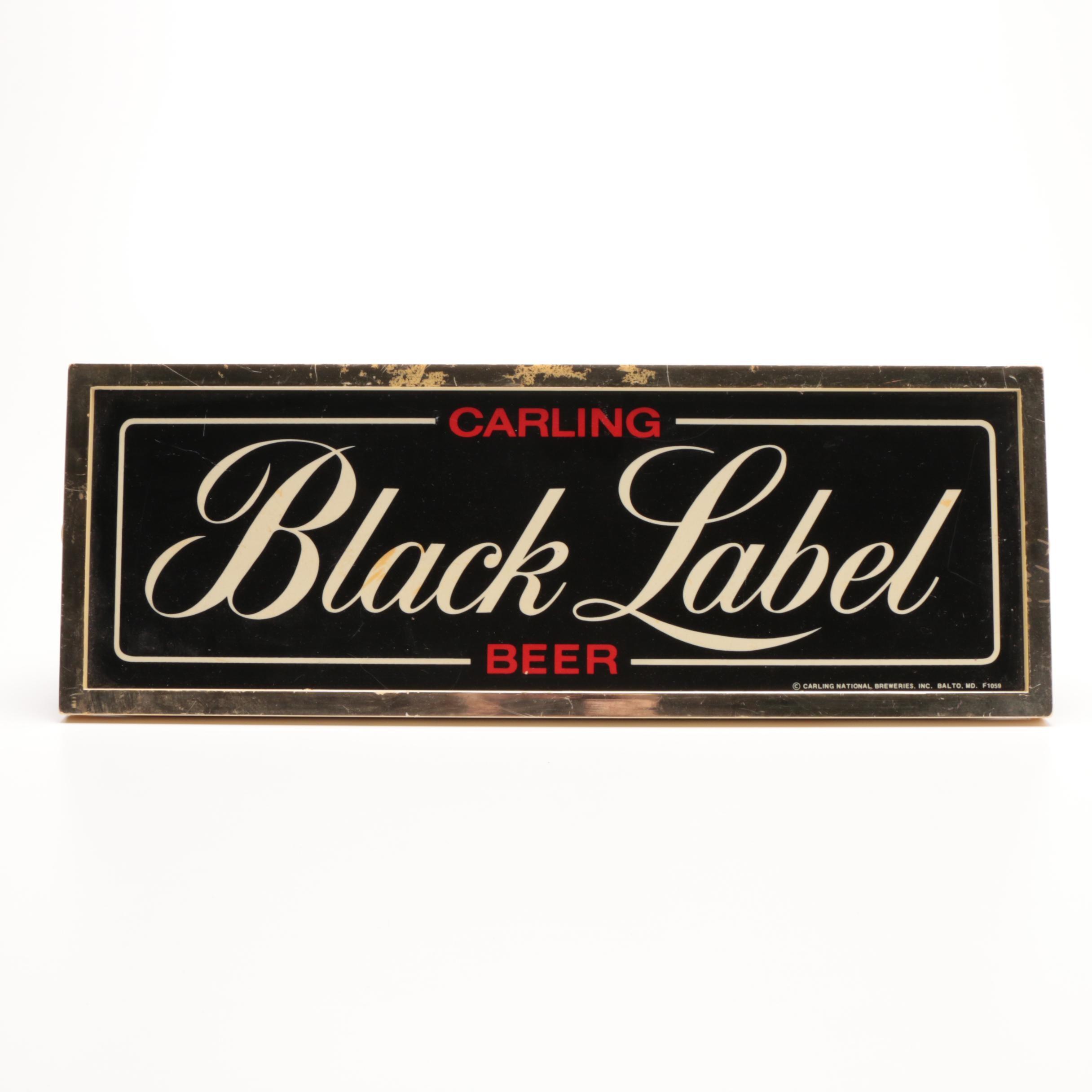 Black Label Beer Sign