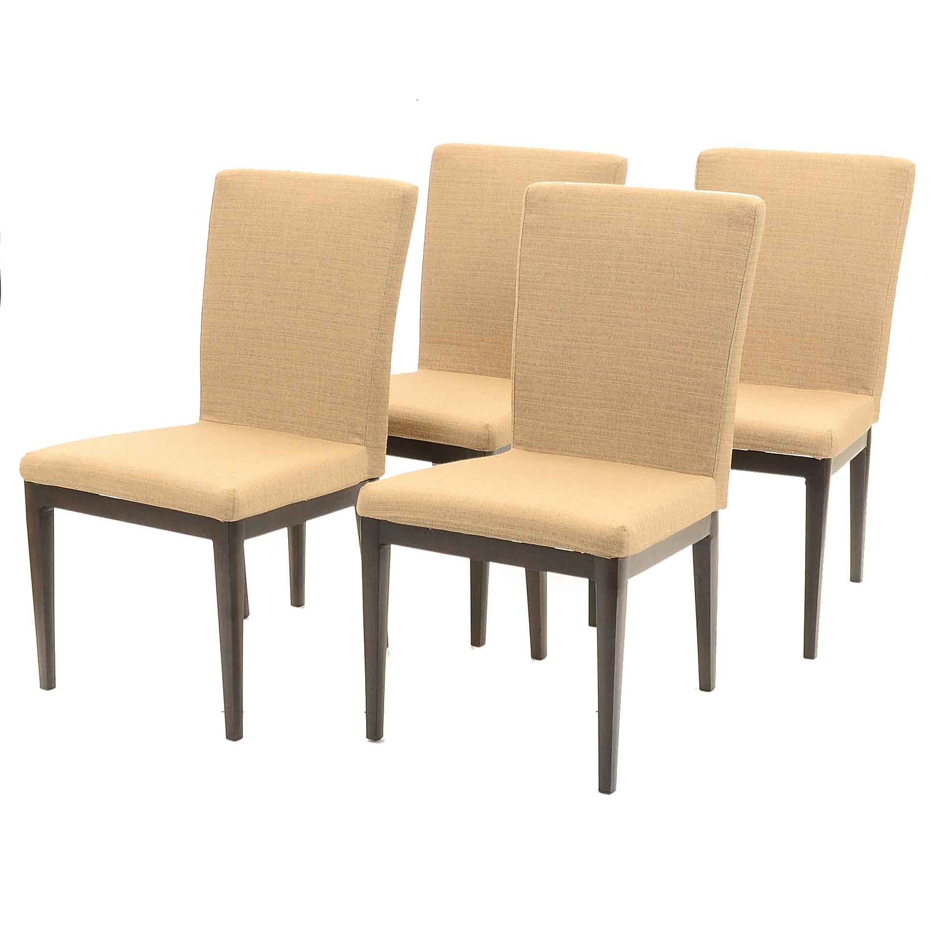Collection of Four Sunbrella Outdoor chairs