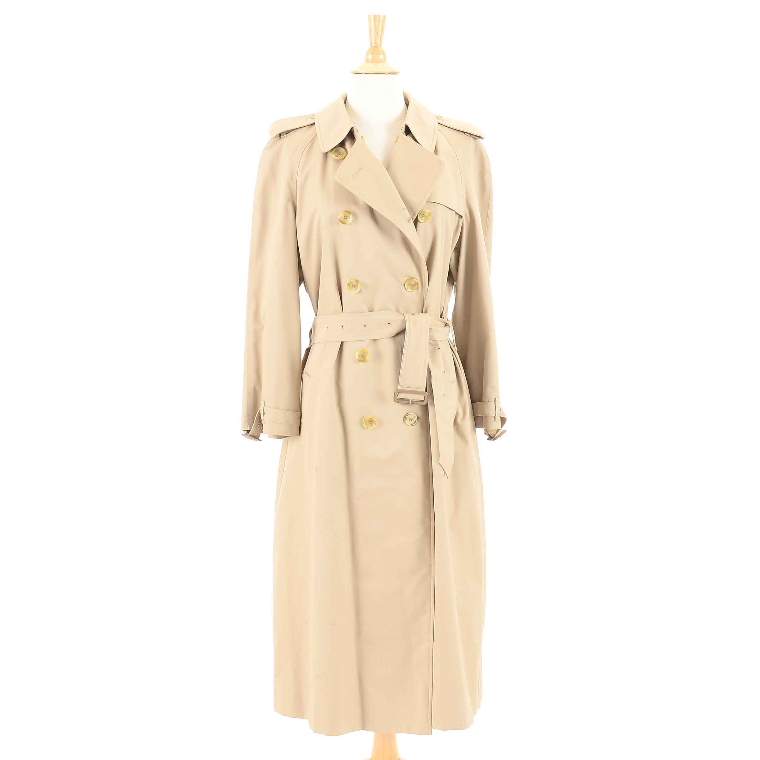 Men's Burberrys Double-Breasted Trench Coat