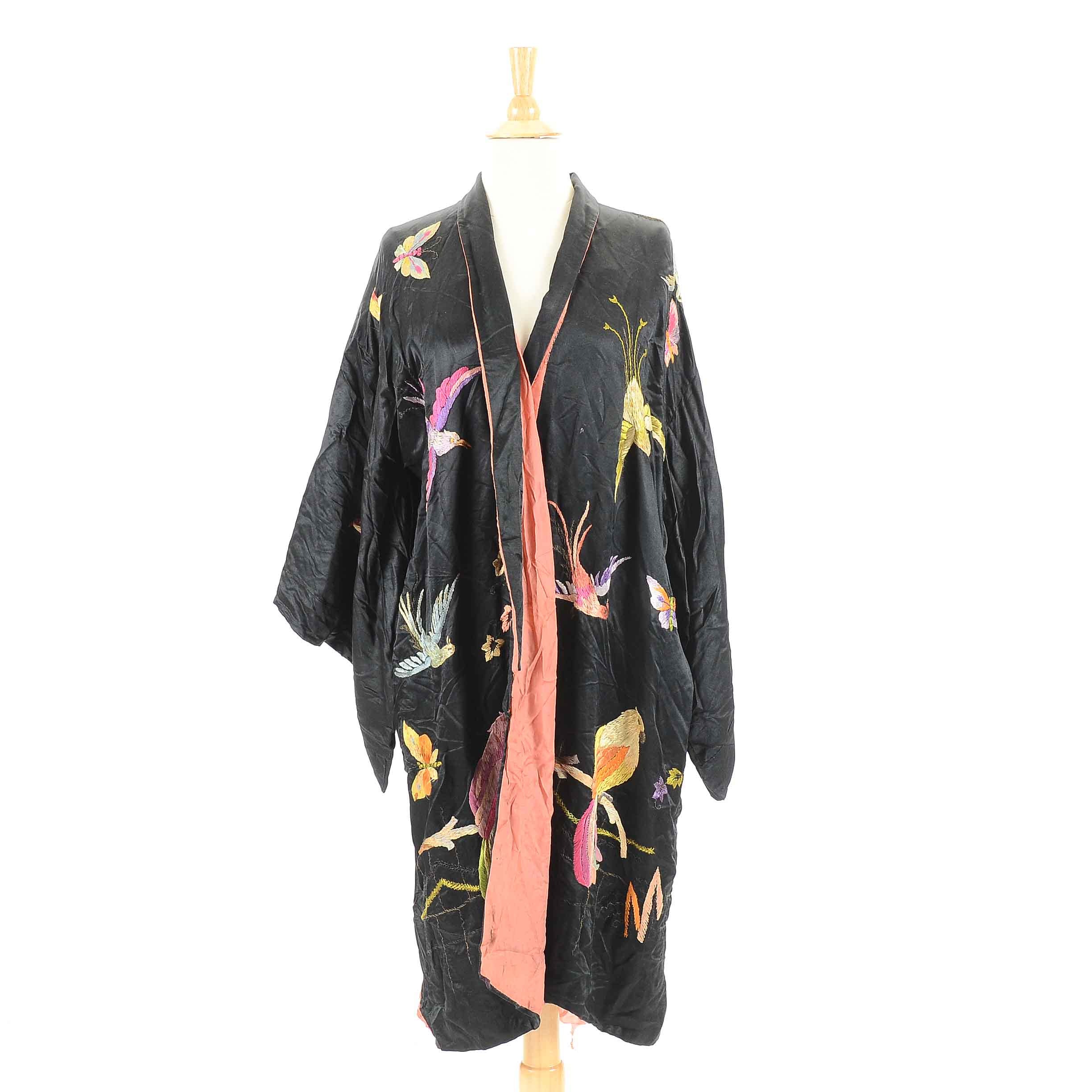 Vintage Embroidered Kimono Inspired Jacket