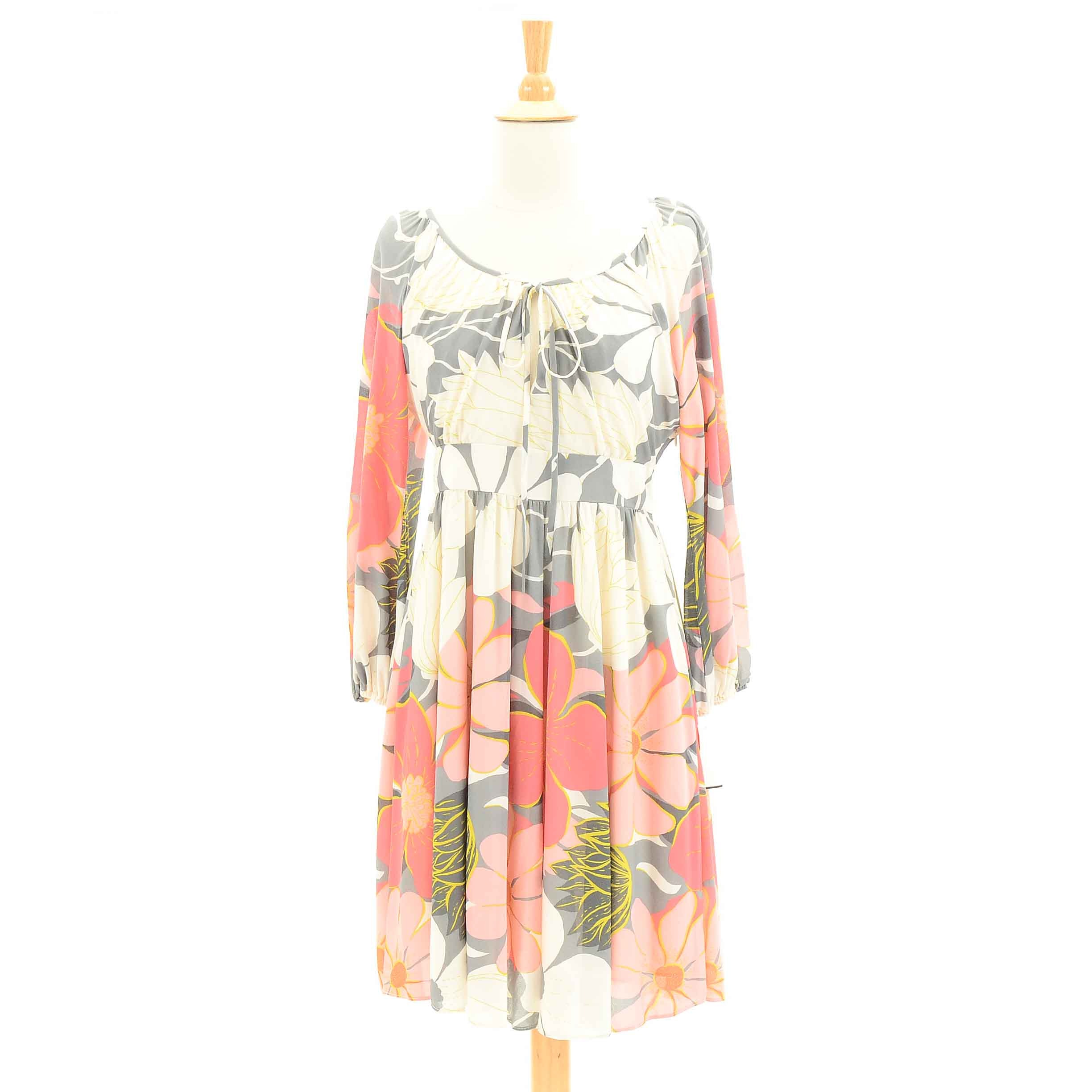 Tibi Silk Floral Dress