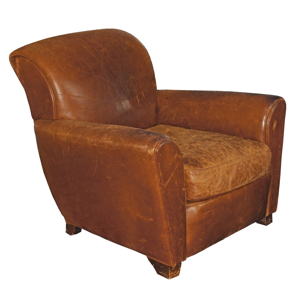Leather Armchair by Mitchell Gold for Pottery Barn