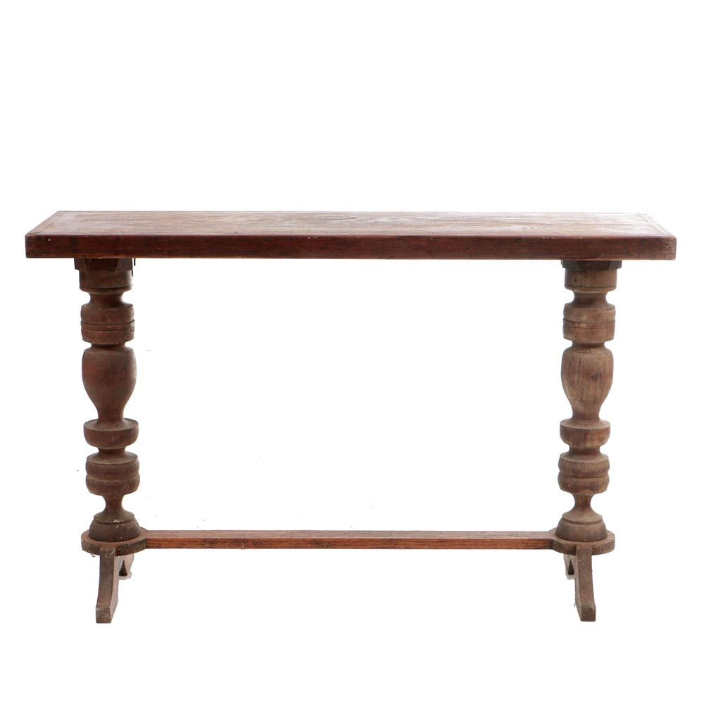Antique Oak and Cherry Console Table