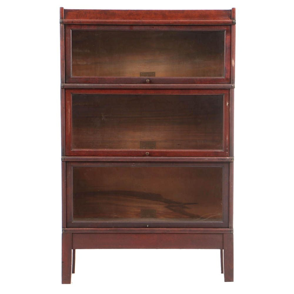 Early 20th Century Three-Stack Barrister's Bookcase by The Globe-Wernicke Co.