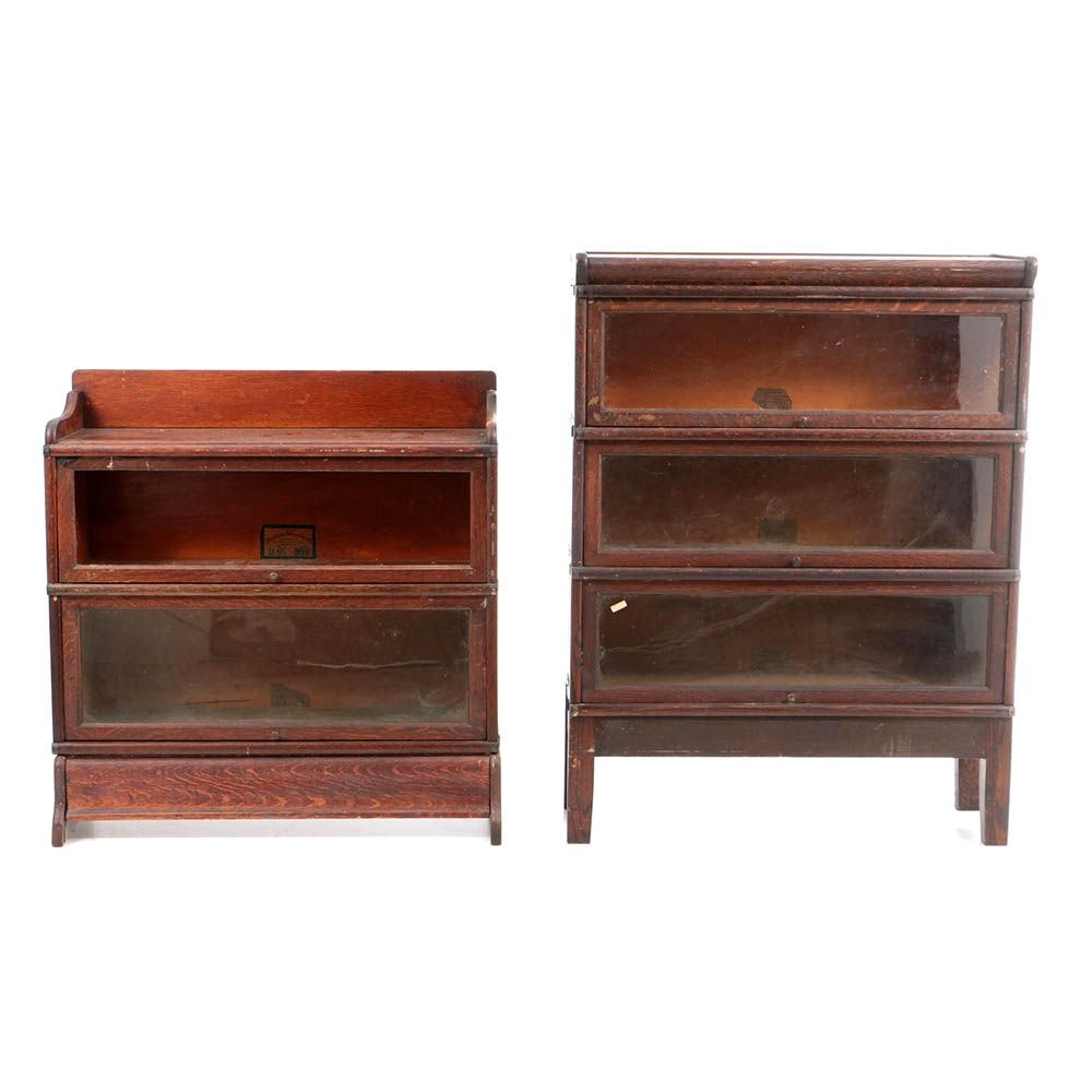 Early 20th Century Oak Barrister's Bookcases by The Globe-Wernicke Co.