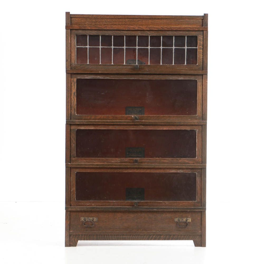 "Early 20th Century ""Art-Mission"" Barrister's Bookcase by The Globe-Wernicke Co."
