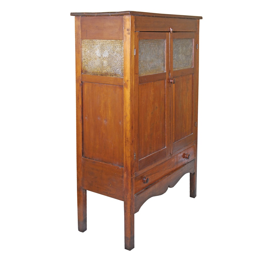 Antique Pie Safe and Cupboard ... - Antique Pie Safe And Cupboard : EBTH