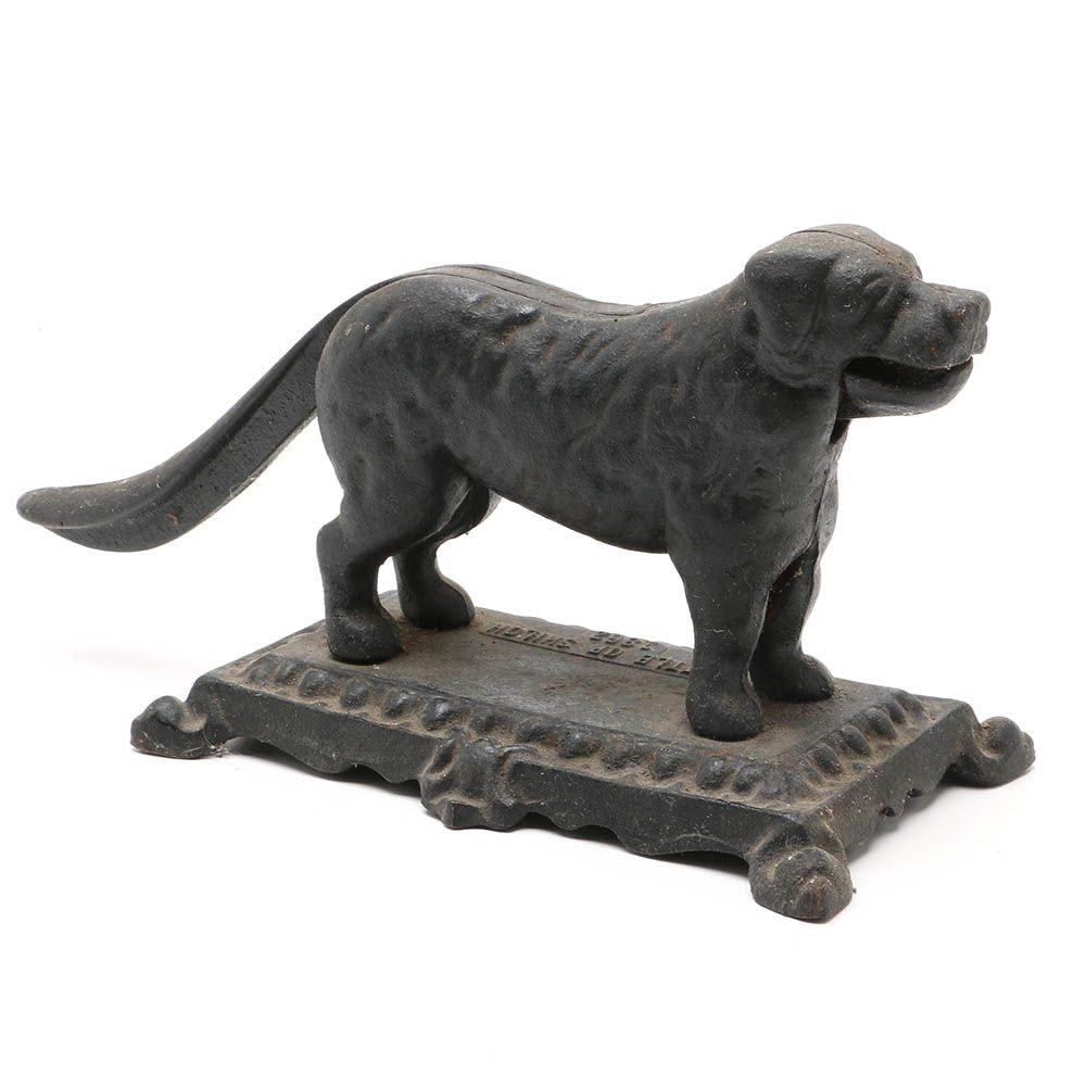 "Commemorative ""Battle of Shiloh 1862"" Cast Iron Dog Nutcracker"