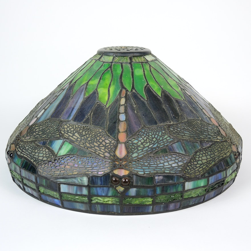 Dale tiffany dragonfly stained glass lamp shade ebth dale tiffany dragonfly stained glass lamp shade aloadofball Images