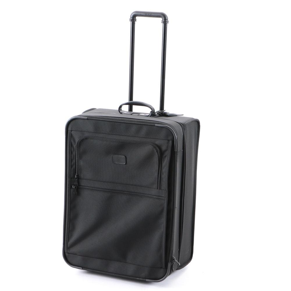 Tumi International Expandable Two-Wheeled Black Carry-On Suitcase