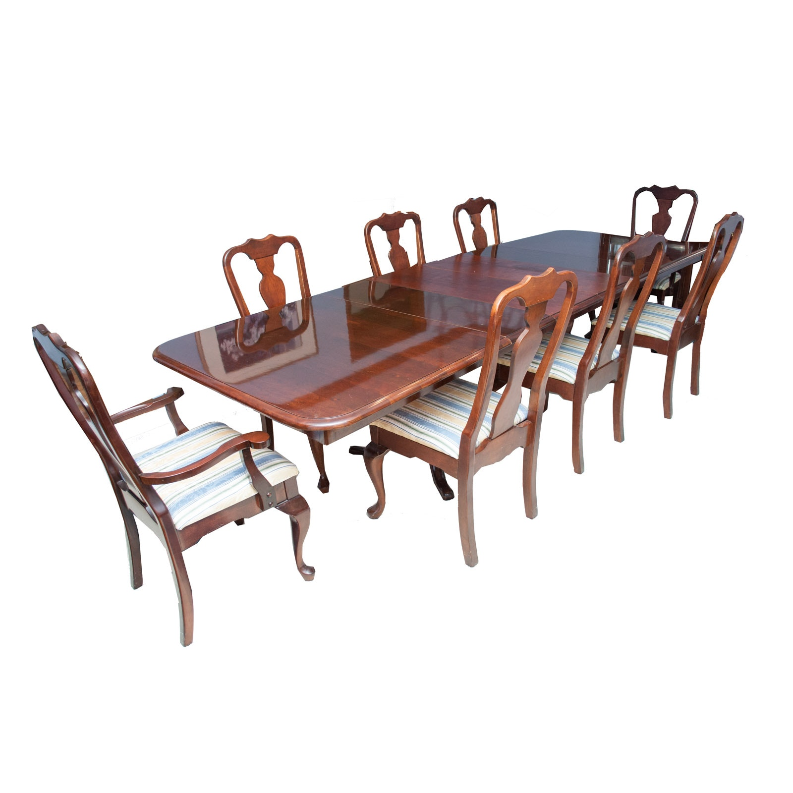 Kincaid Cherry Leaf Dining Table and Chairs
