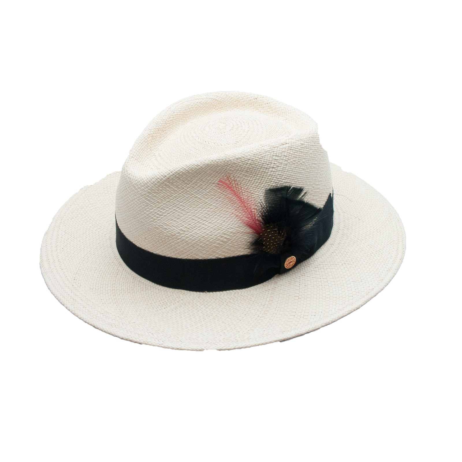 Men's Handwoven Mayser Woven Panama Hat for Batsakes Hat Shop with Box