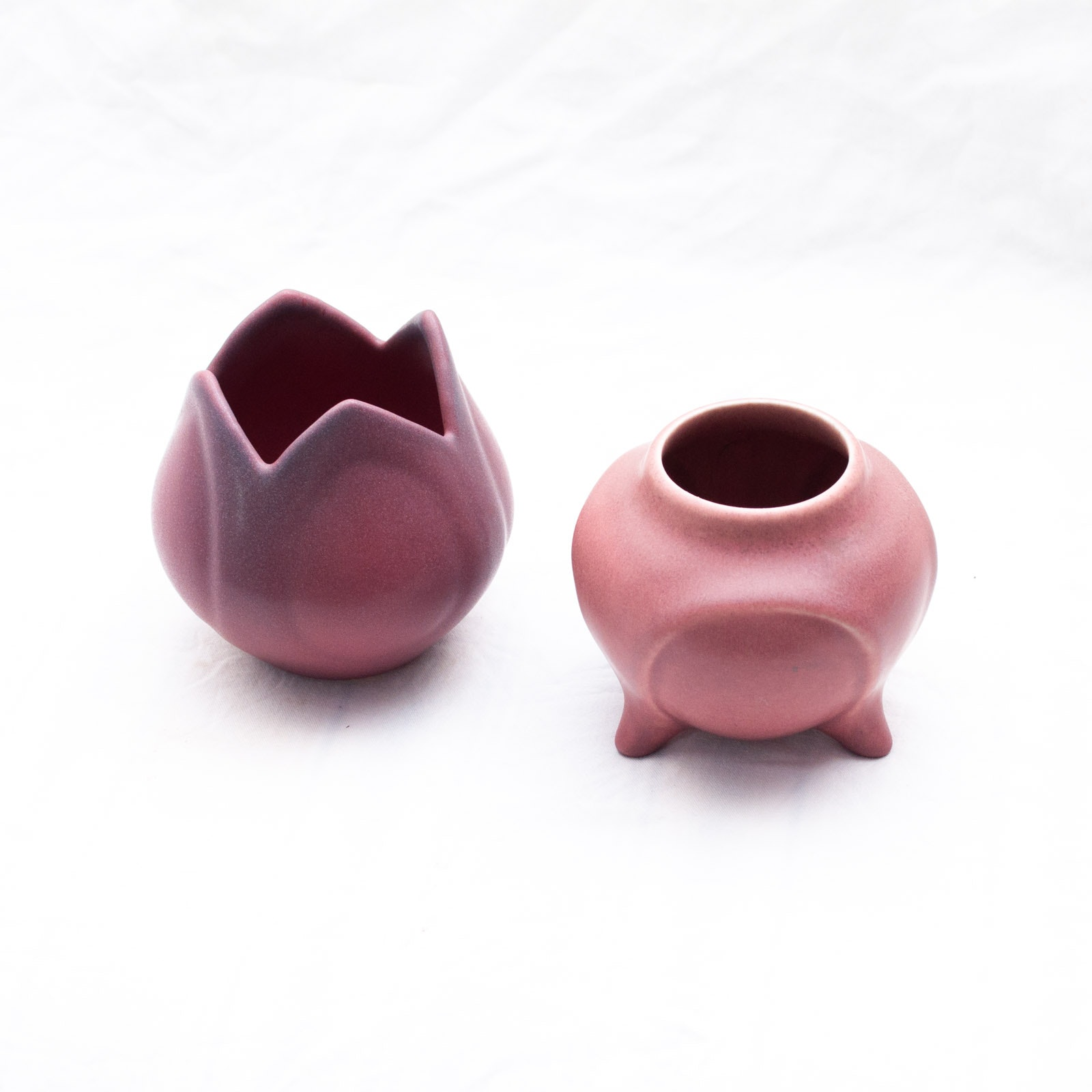 1920s Rookwood and Van Briggle Pottery Ceramic Vases