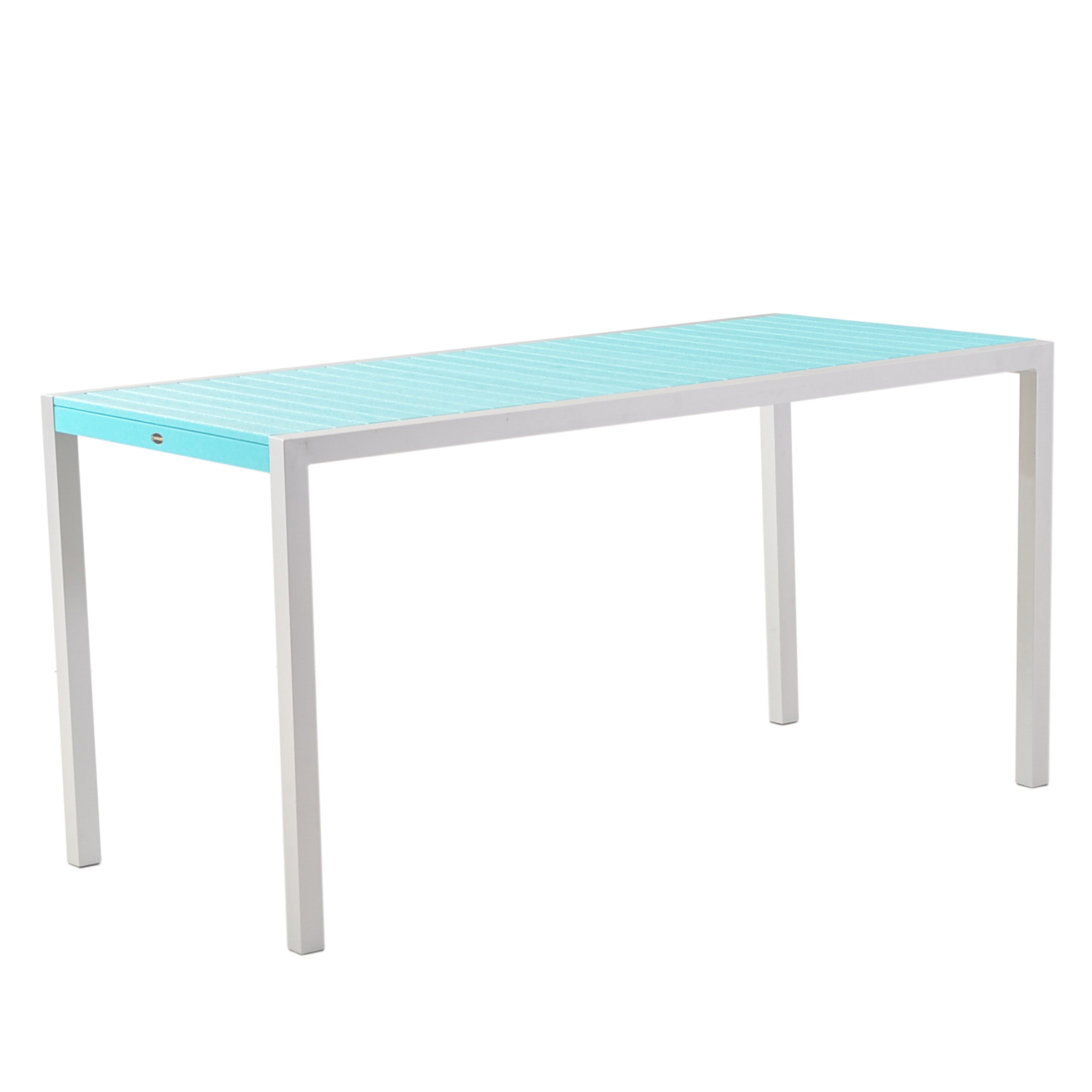 Polywood Aqua Blue Plank Bar-Height Table