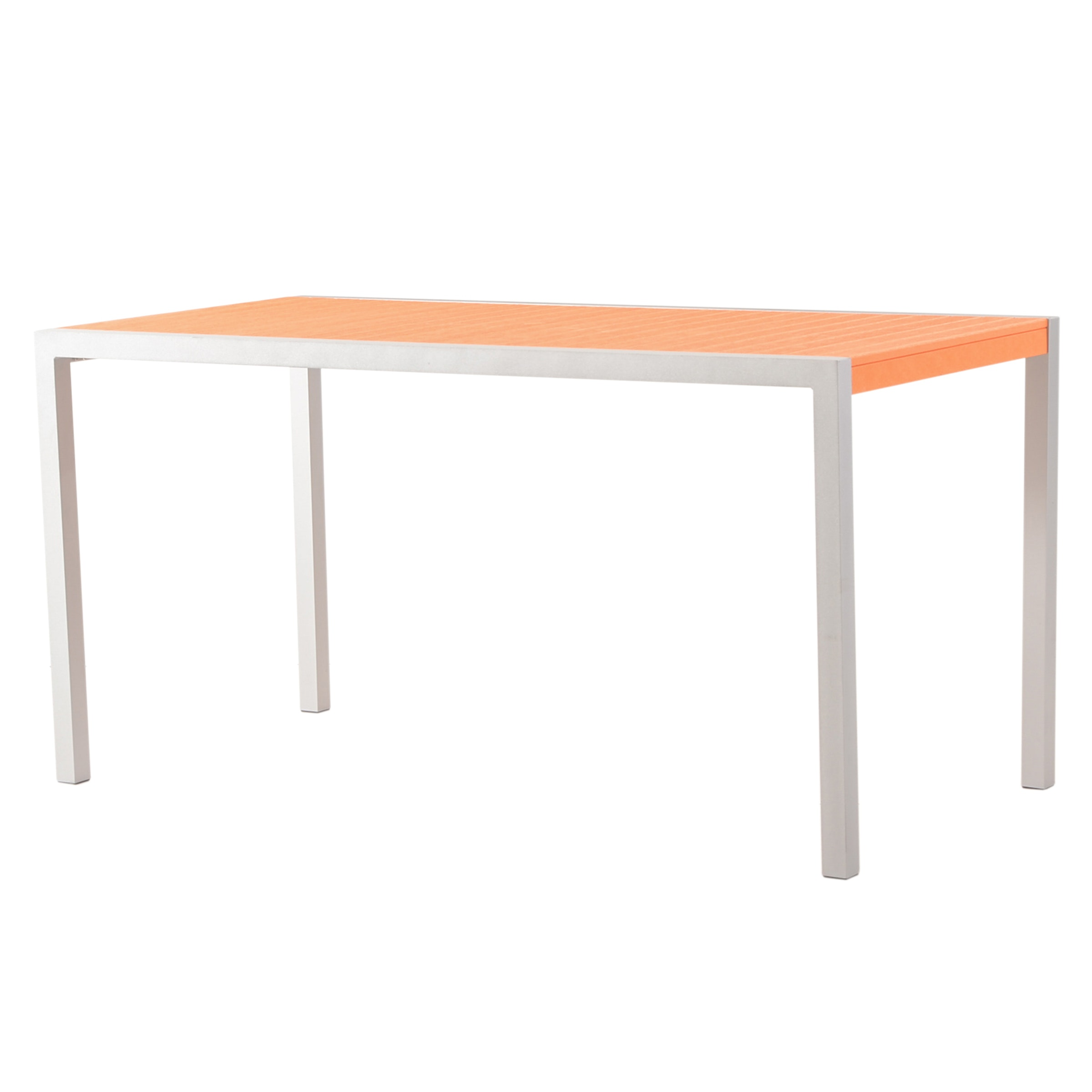 Polywood Orange Plank Bar-Height Table