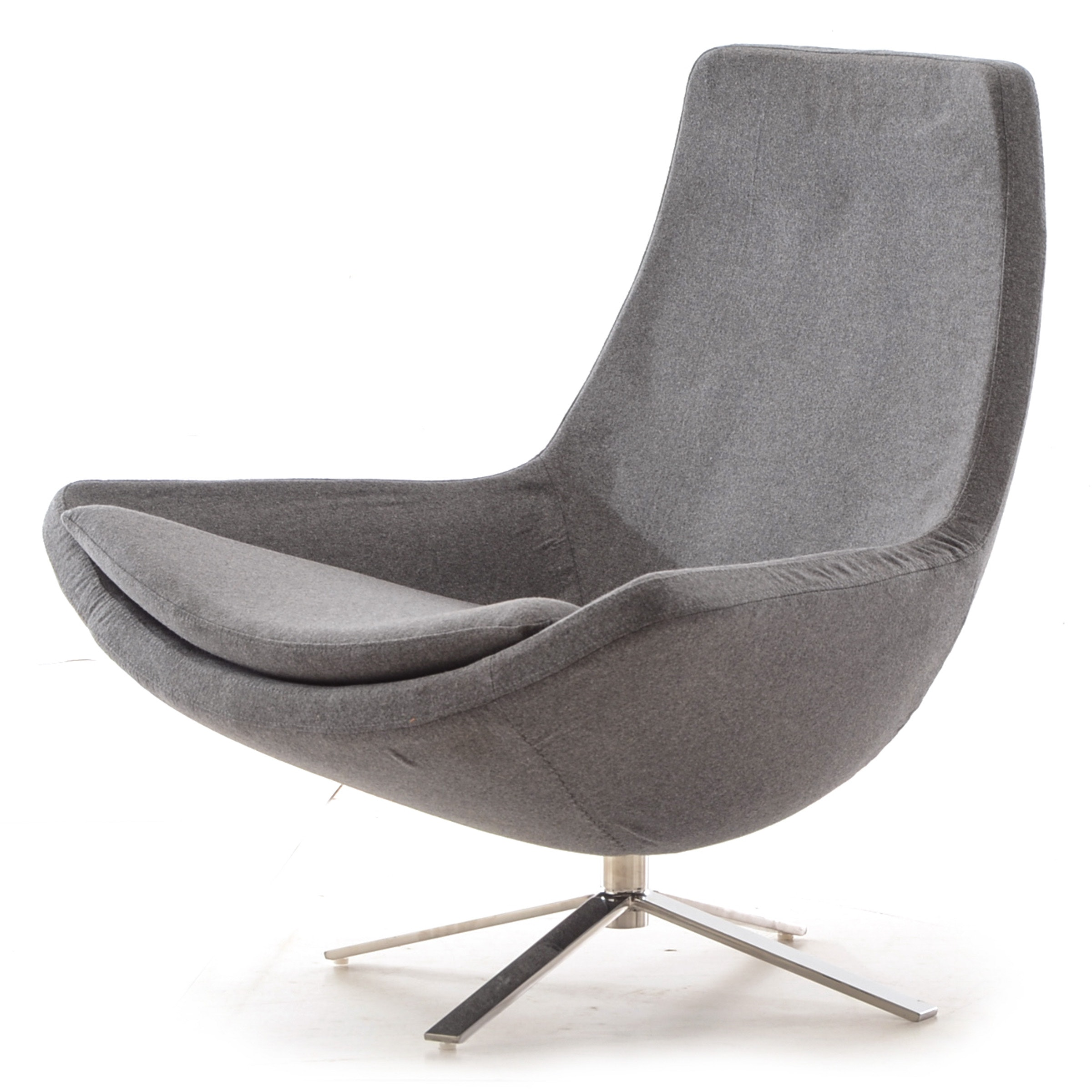 Retropolitan Modern Cashmere Lounge Wing Chair
