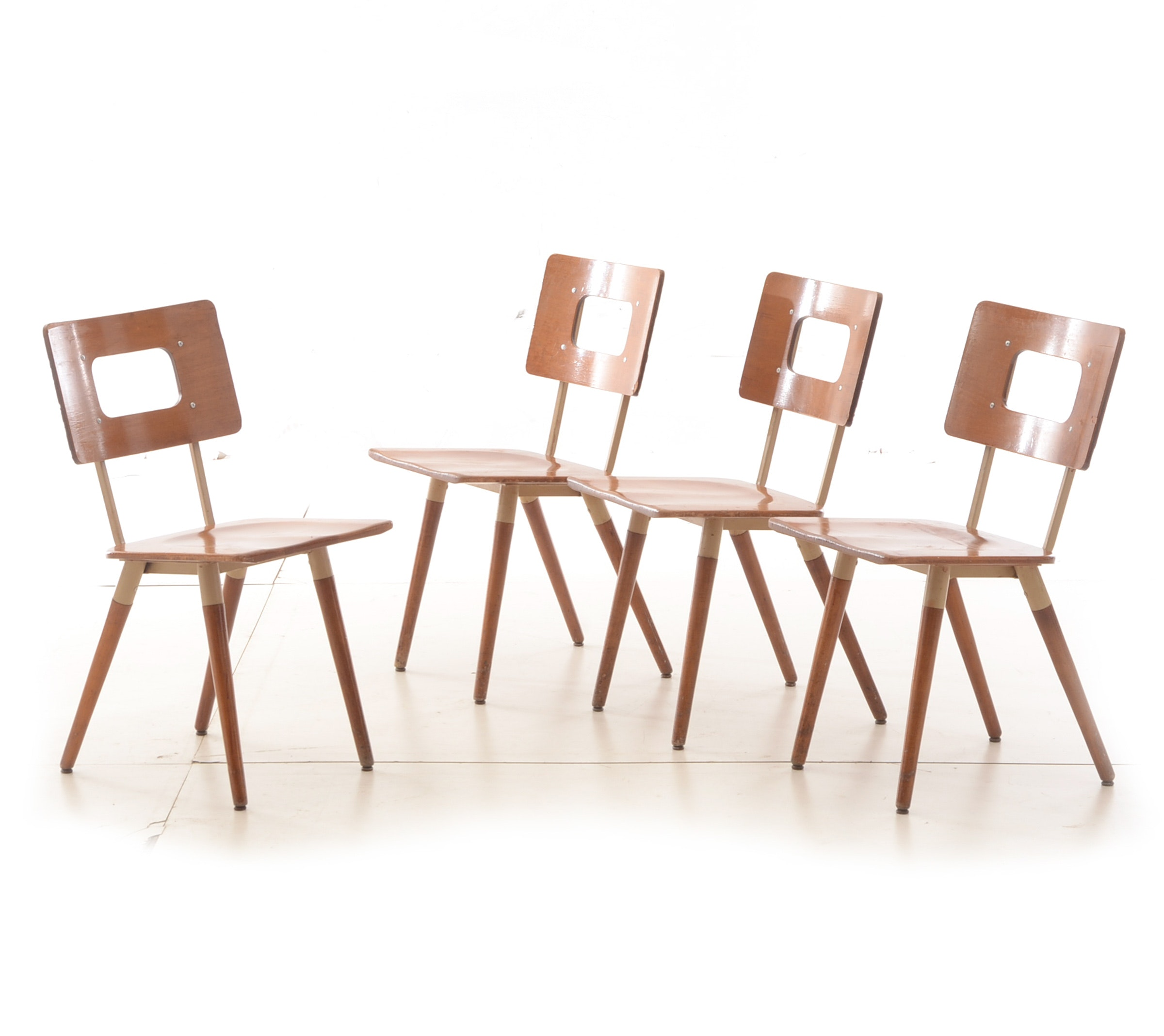 Collection of Four Mid Century Modern Chairs by Hill Rom
