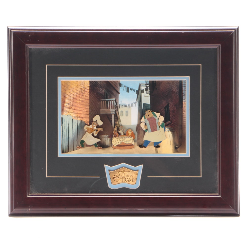 """Mixed Media Wall-hanging from """"Lady and the Tramp"""""""