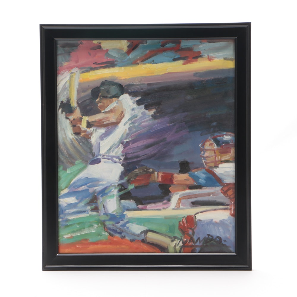 Nando Oil Painting on Canvas of Baseball Players