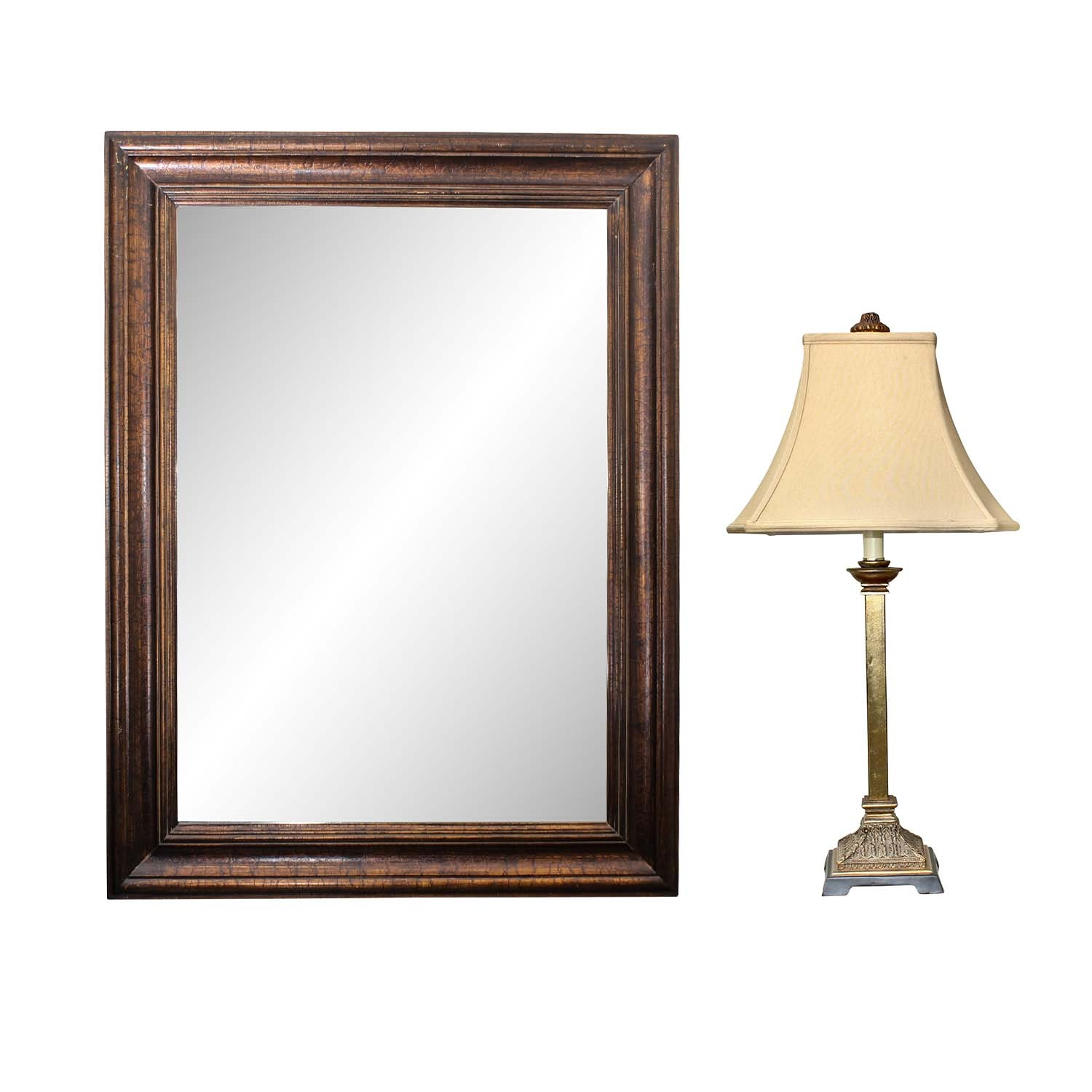 Decorative Wall Mirror and Lamp