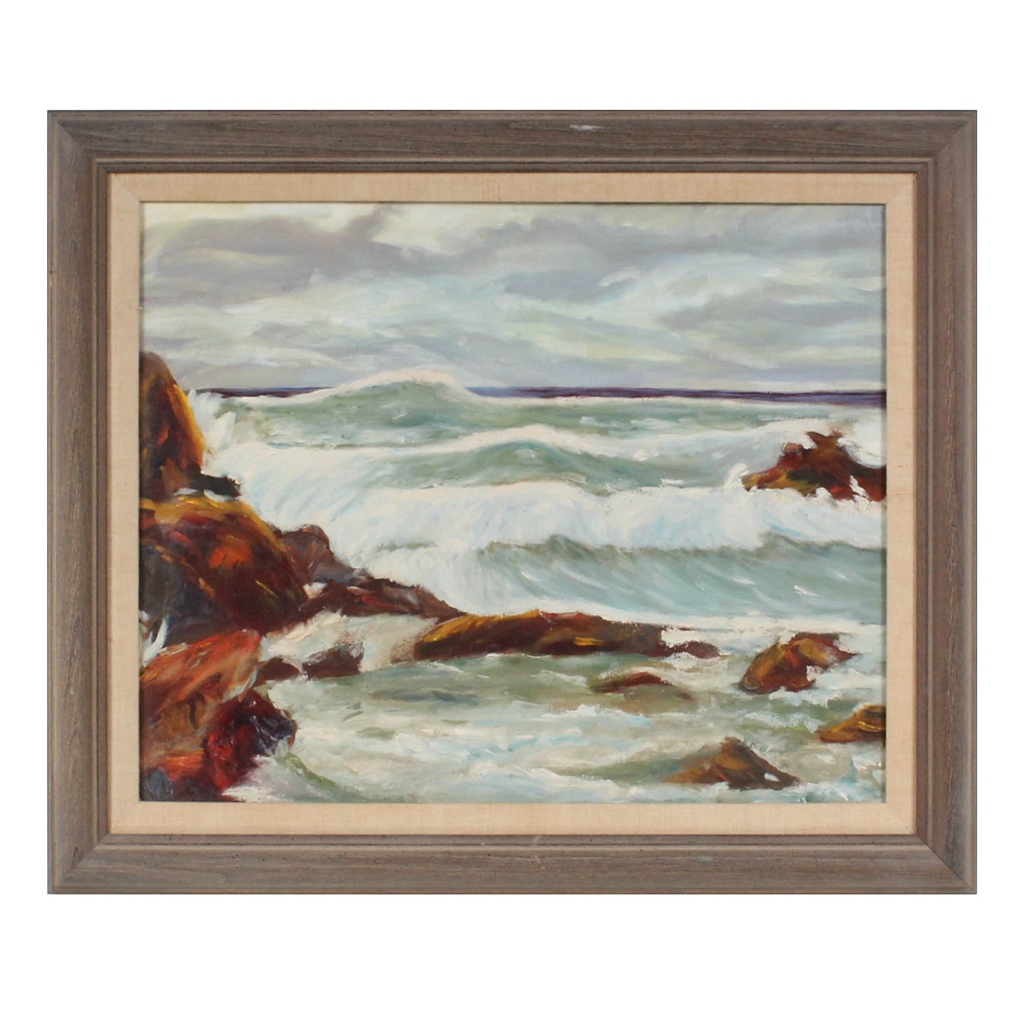 Oil on Board Seascape Painting