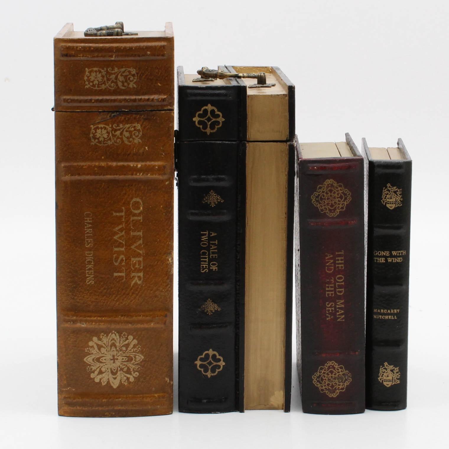 Faux Book Storage Boxes