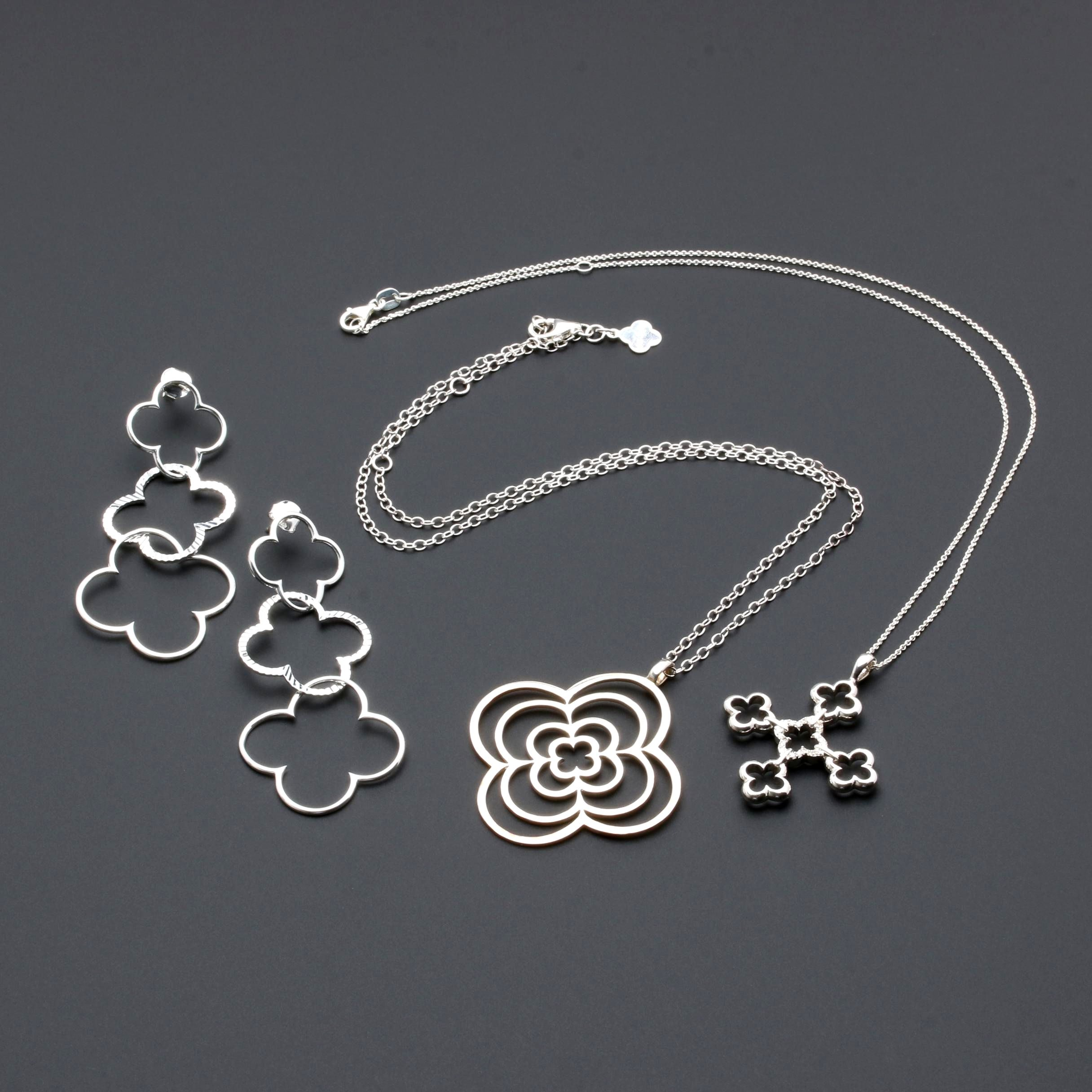 Heidi Klum Sterling Silver Necklaces and Earrings Including Diamonds