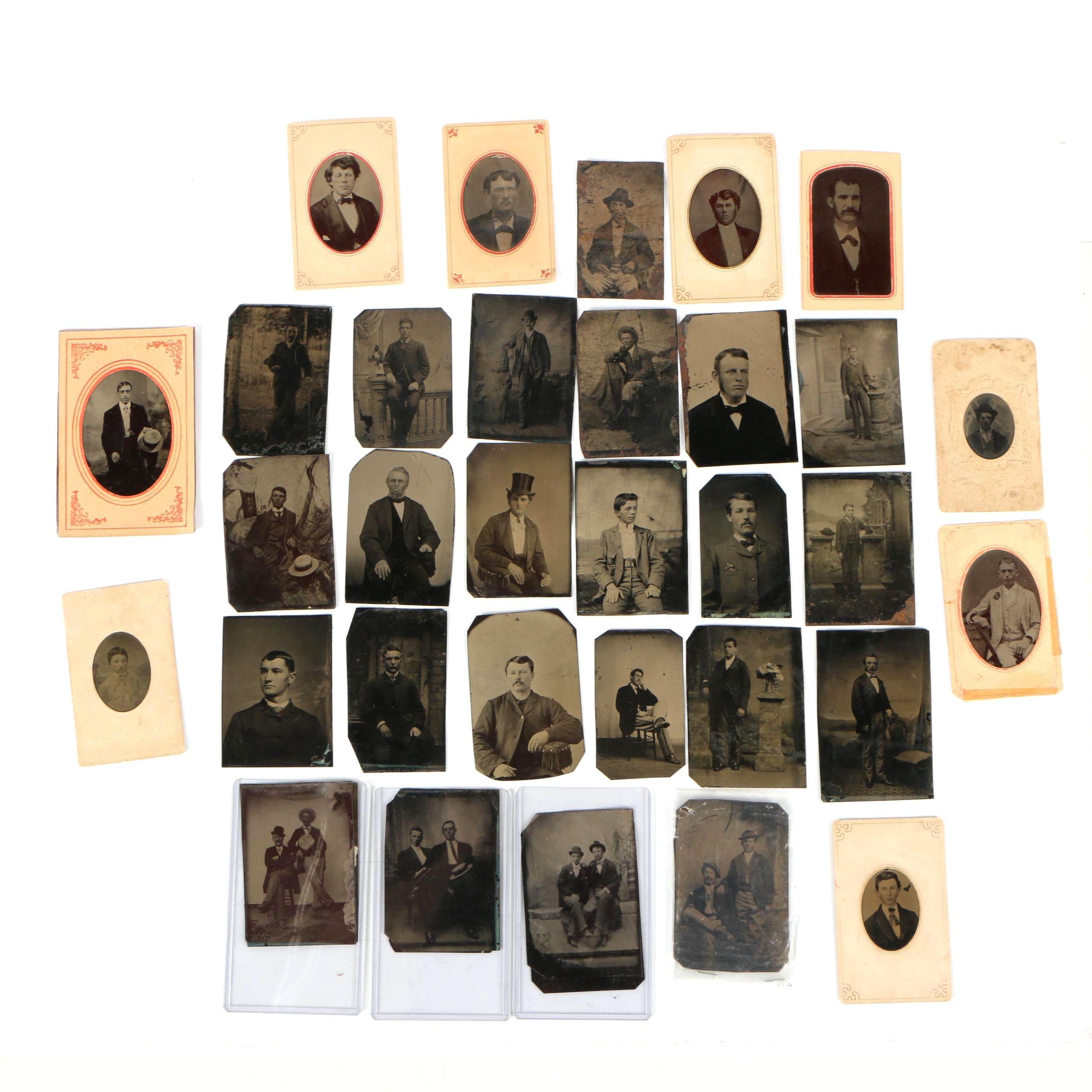 Antique Tintype Portrait Photographs