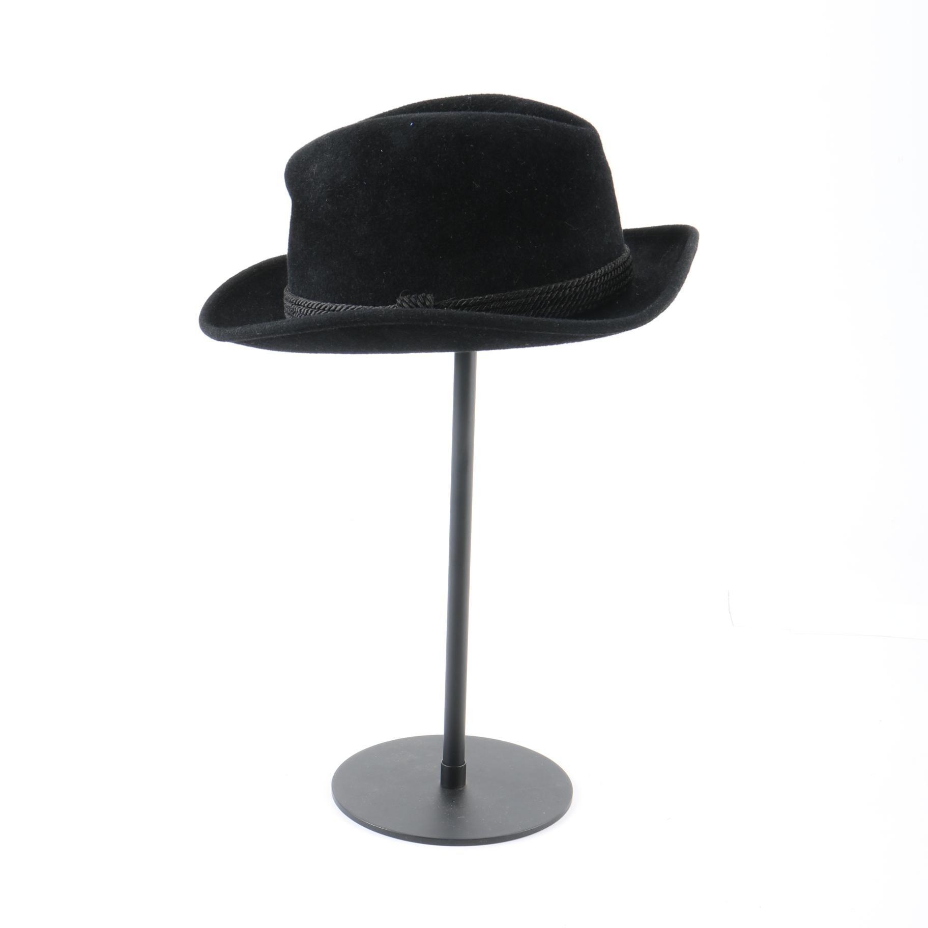 Vintage Stetson Royal De Luxe Black Fur Felt Fedora