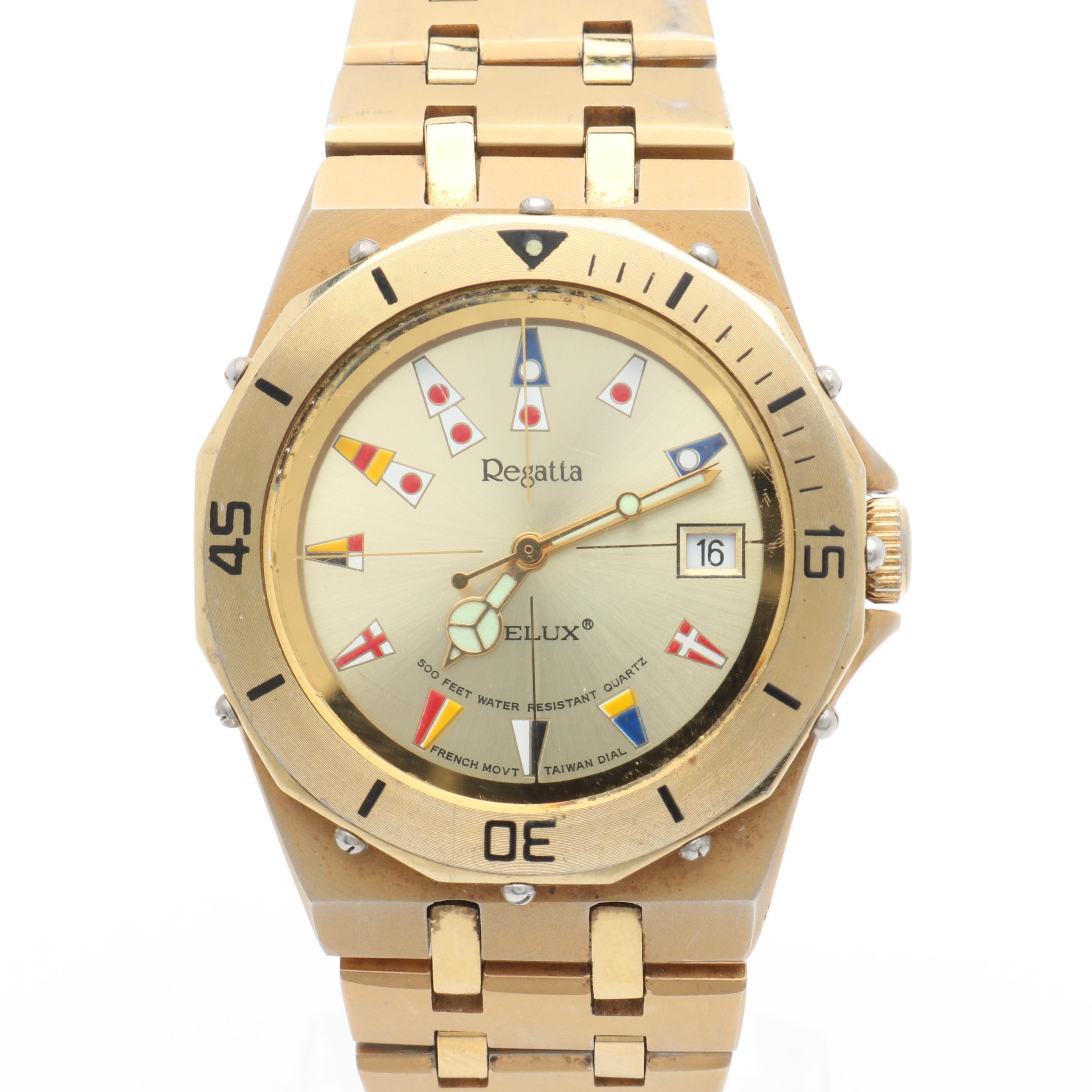 """Telux """"Regatta"""" Stainless Steel Wristwatch"""
