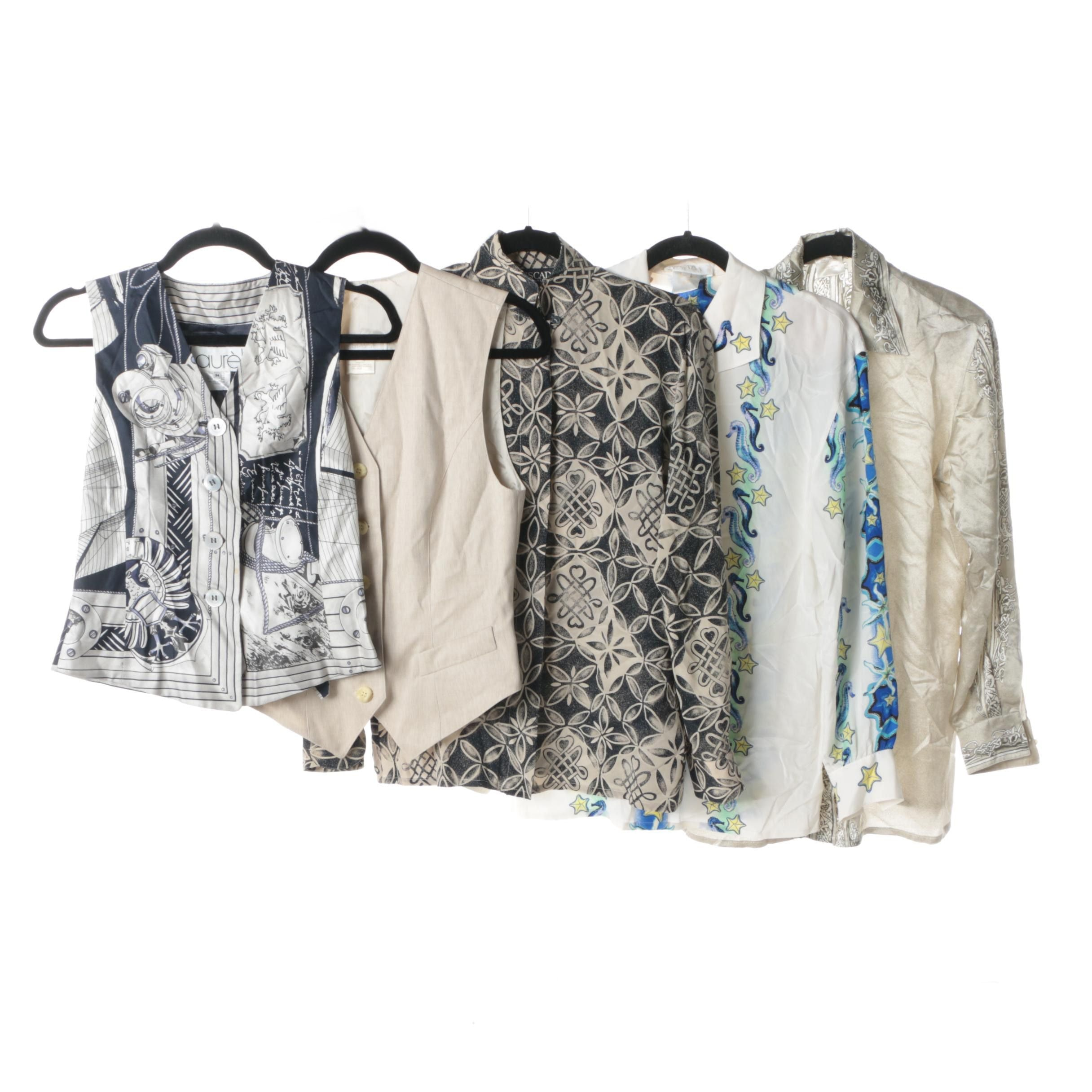 Women's Escada and Laurèl Silk and Wool Blouses and Vests